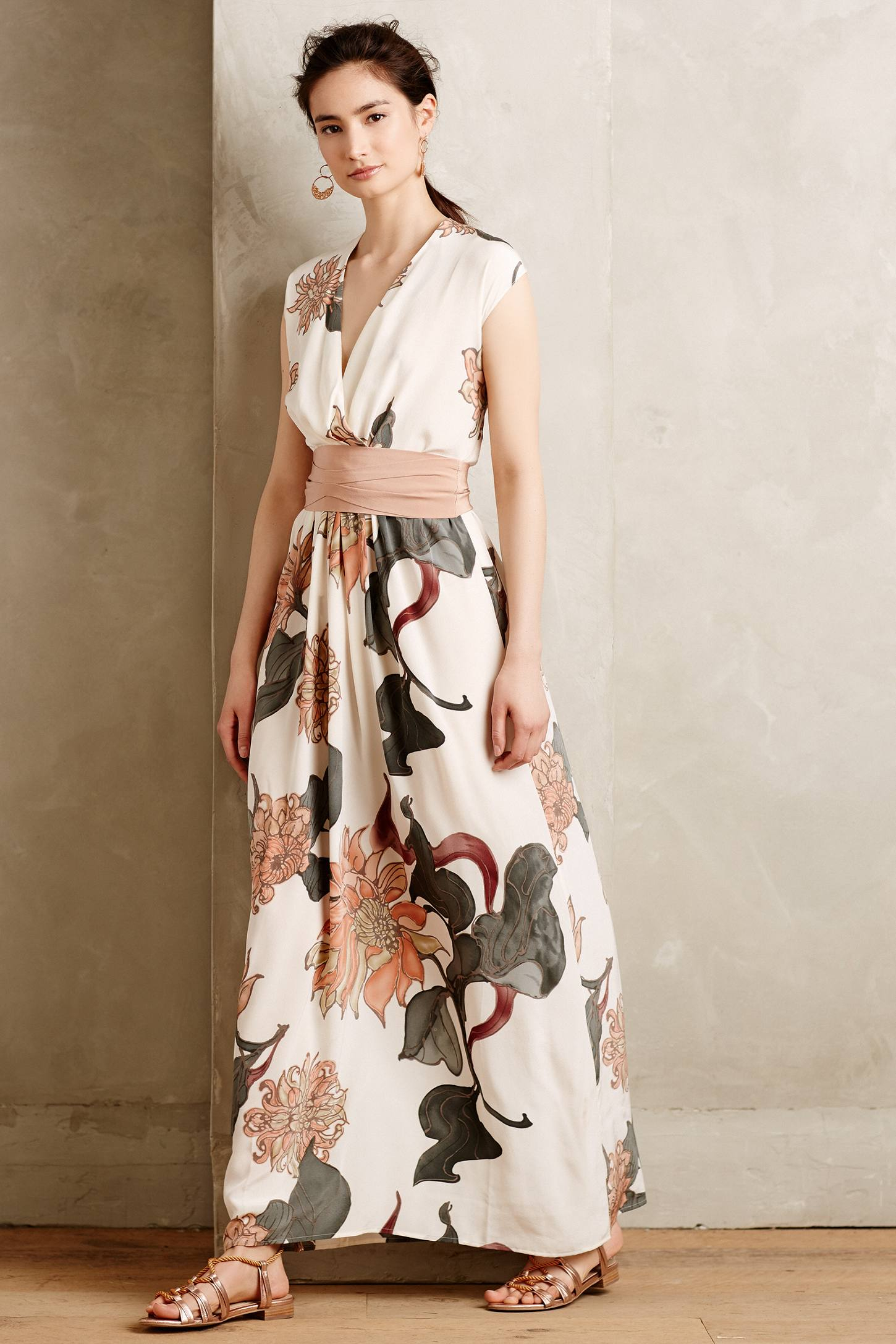 Beautiful silk maxi dresses