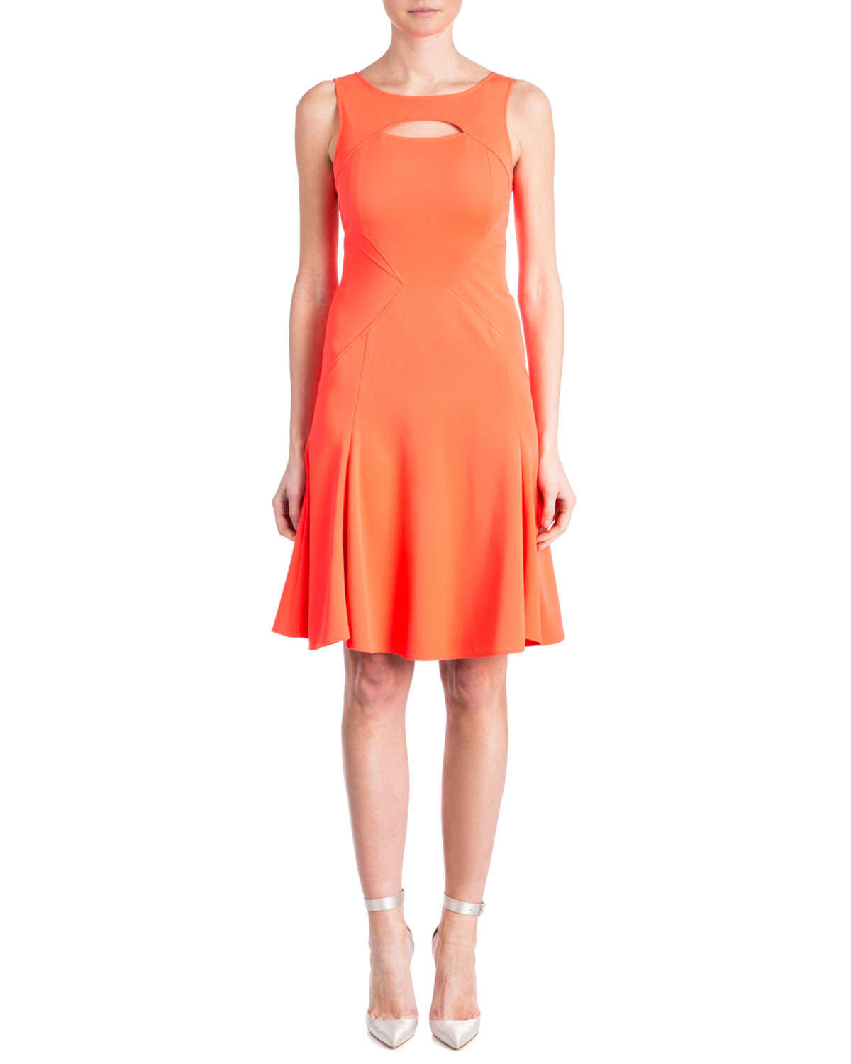 Lyst Zac Zac Posen Joanna Peek A Boo Contour Dress In Pink