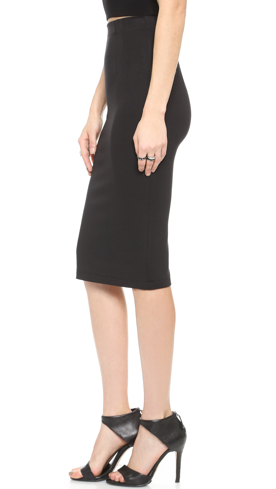Alice   olivia Super High Waist Pencil Skirt - Black in Black | Lyst