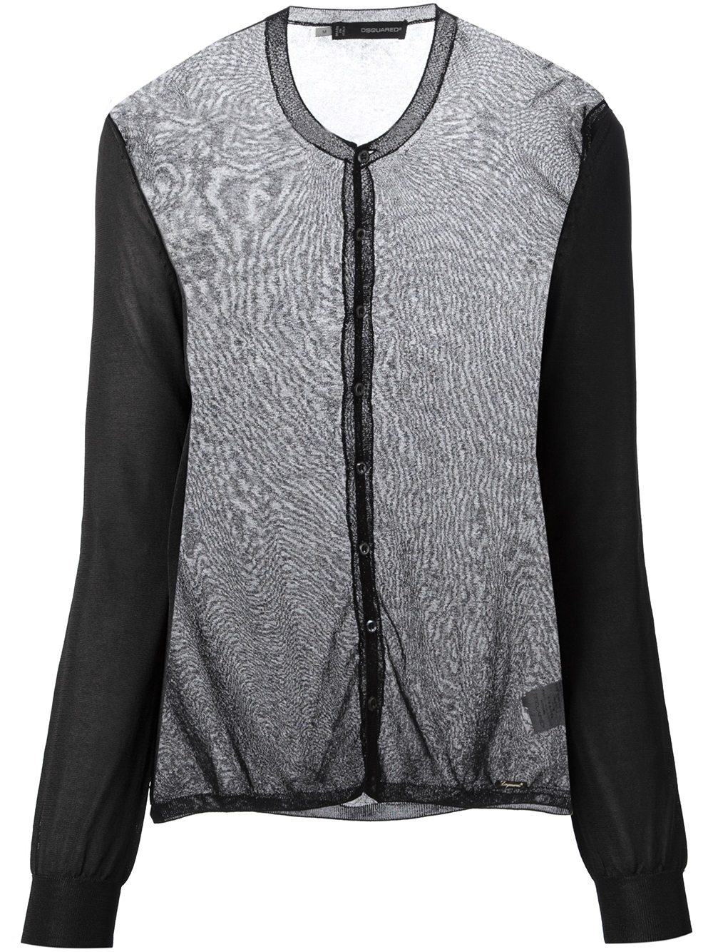 Dsquared² Sheer Cardigan in Black | Lyst