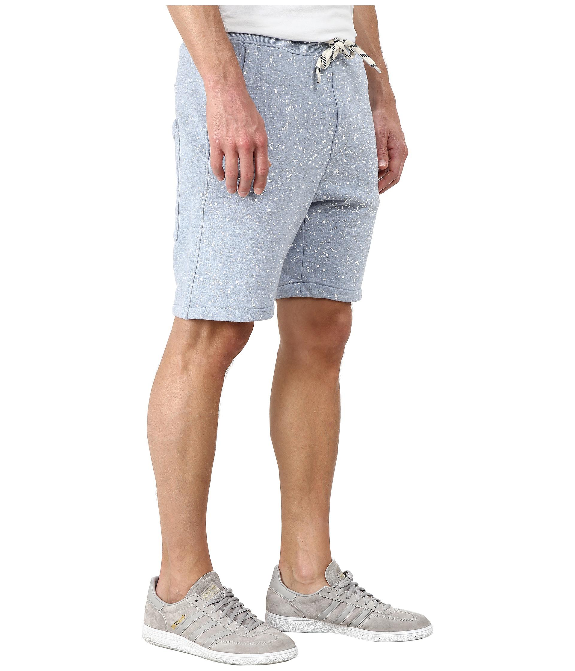 lyst g star raw splatter sweat shorts in blue for men. Black Bedroom Furniture Sets. Home Design Ideas