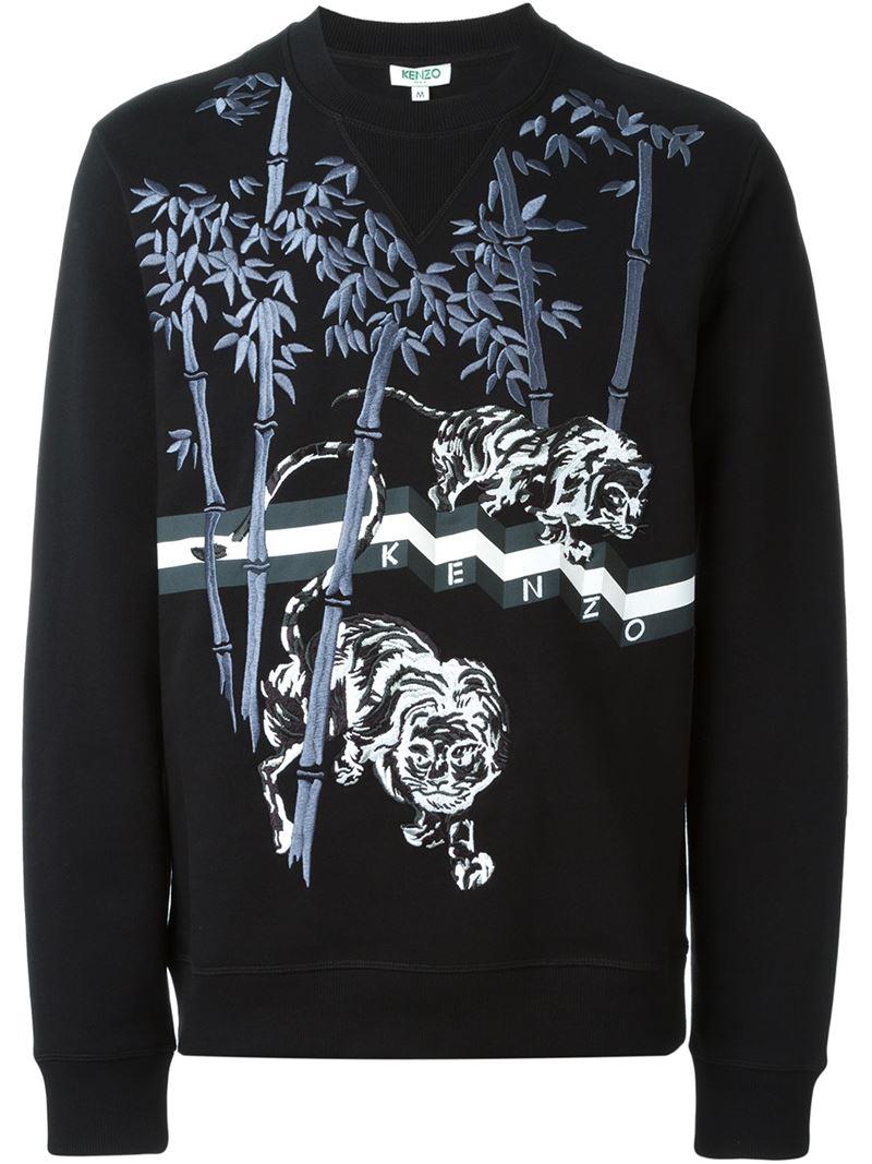 ab101345f KENZO 'bamboo Tiger' Sweatshirt in Black for Men - Lyst
