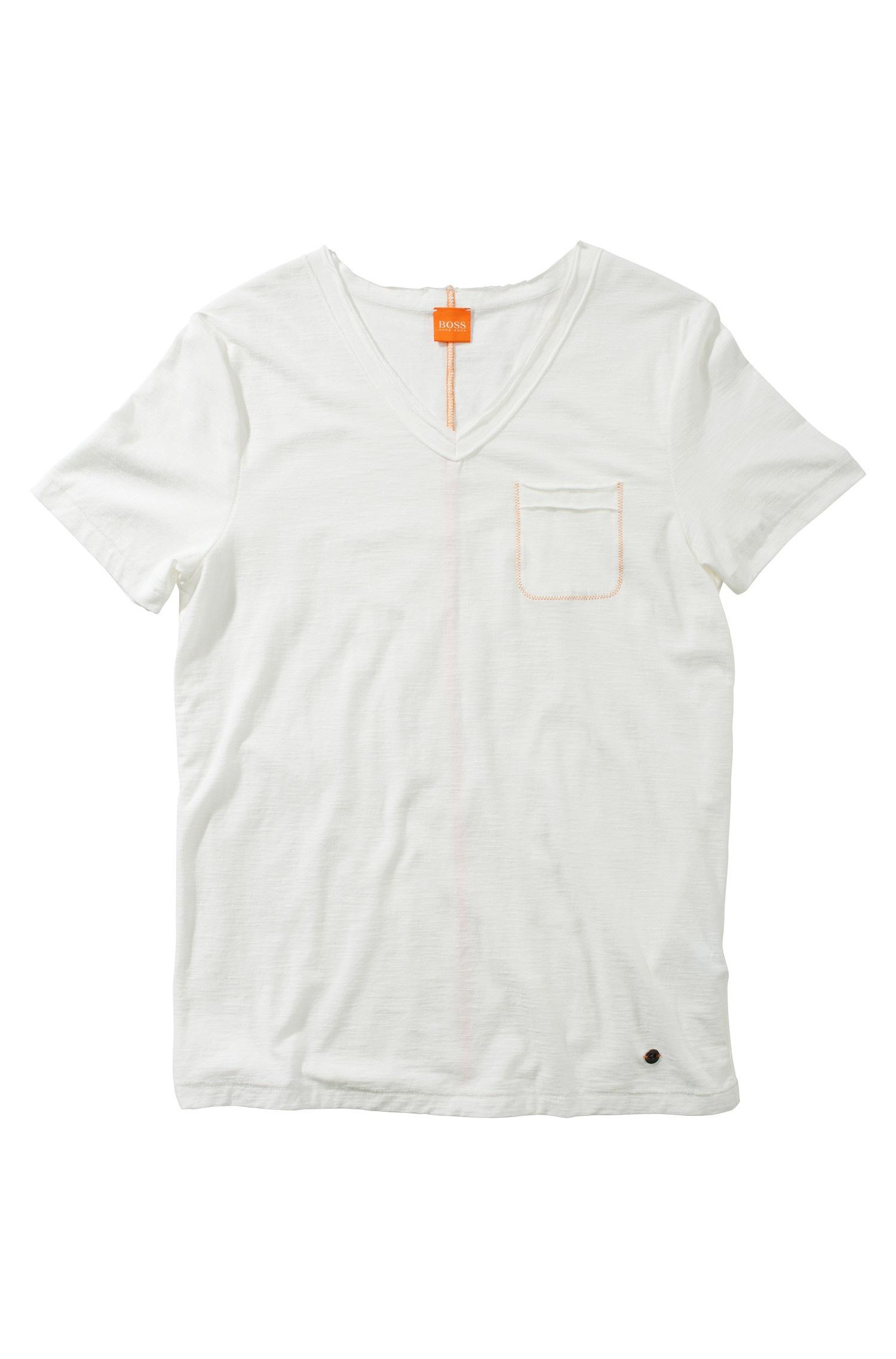 Lyst Boss Orange Vneck Tshirt Talence In White For Men