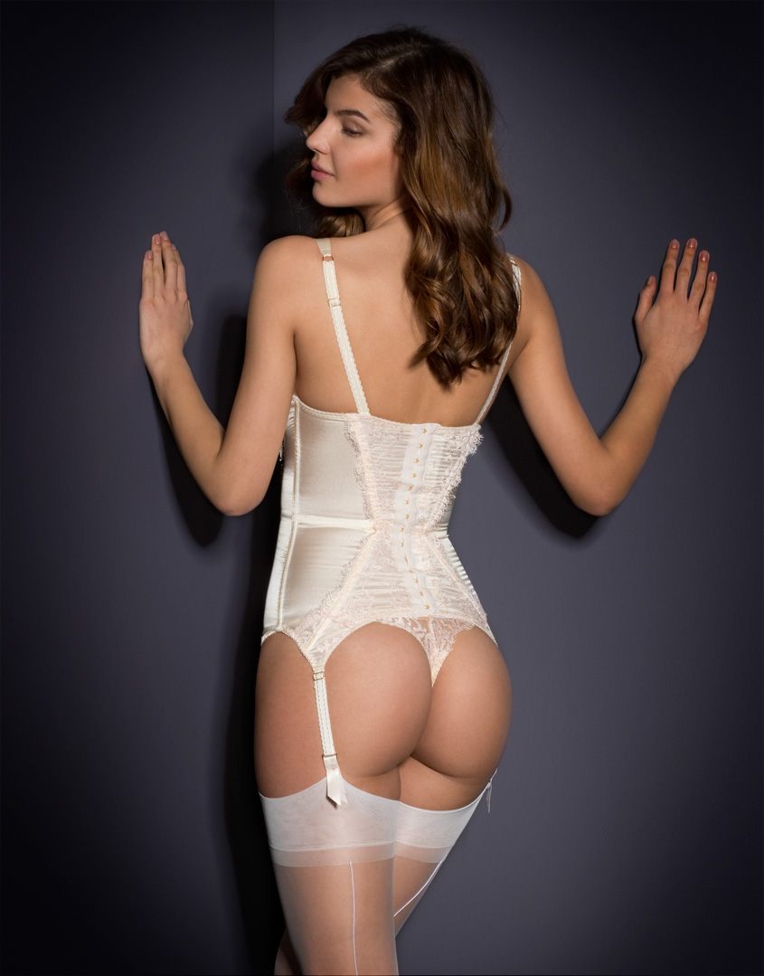 9625a67456 Agent Provocateur Abbey Basque in White - Lyst