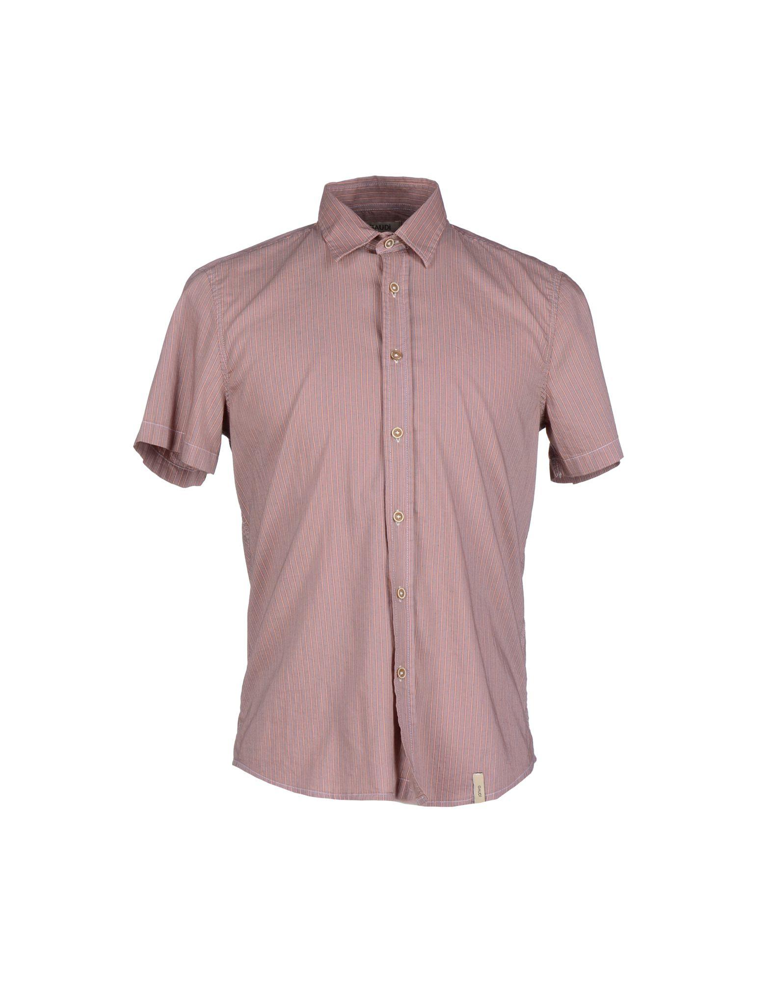 Gaudi shirt in pink for men lyst for Pastel pink dress shirt