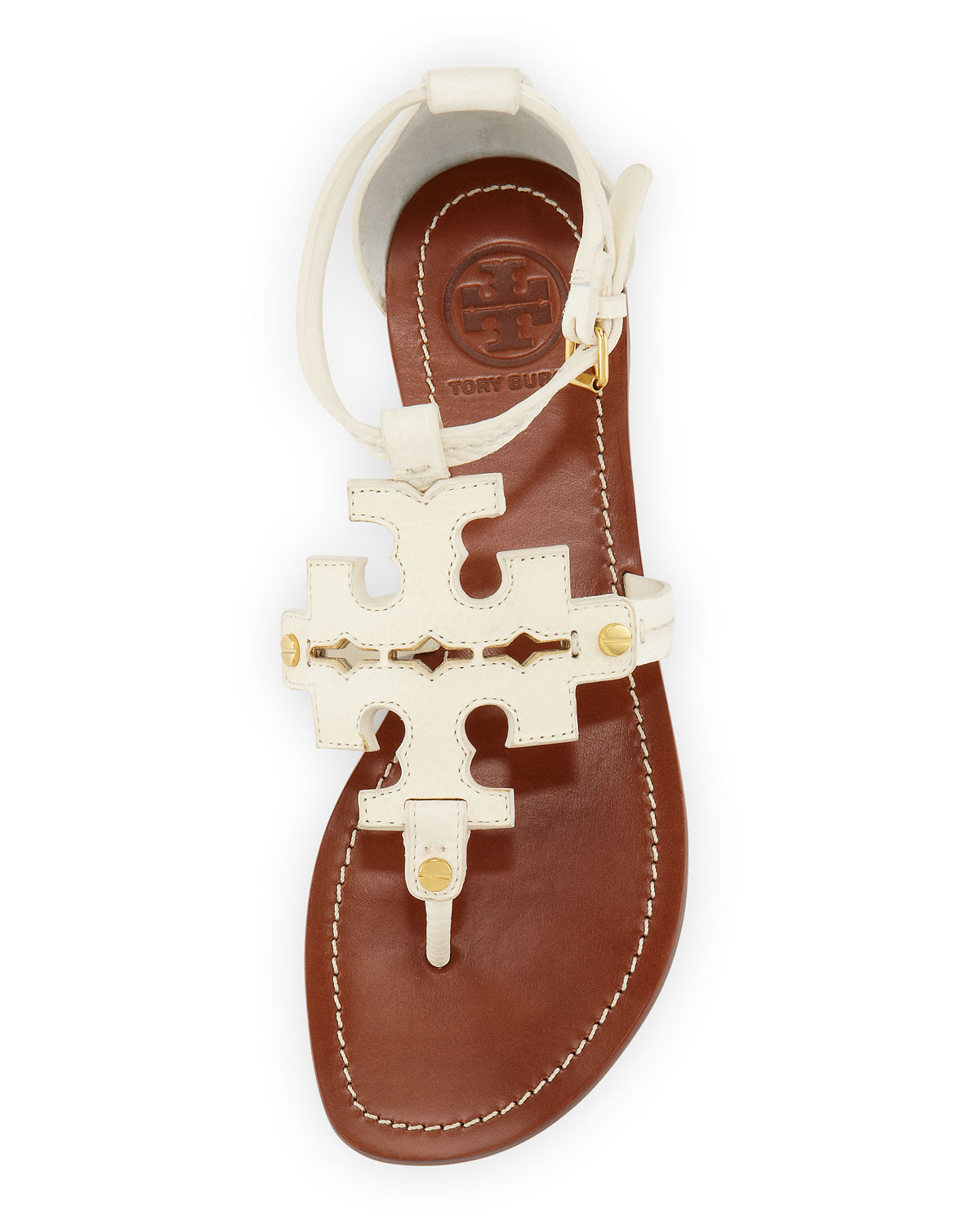 1b2095134fd48a Lyst - Tory Burch Phoebe Logo Thong Sandal Ivory in White