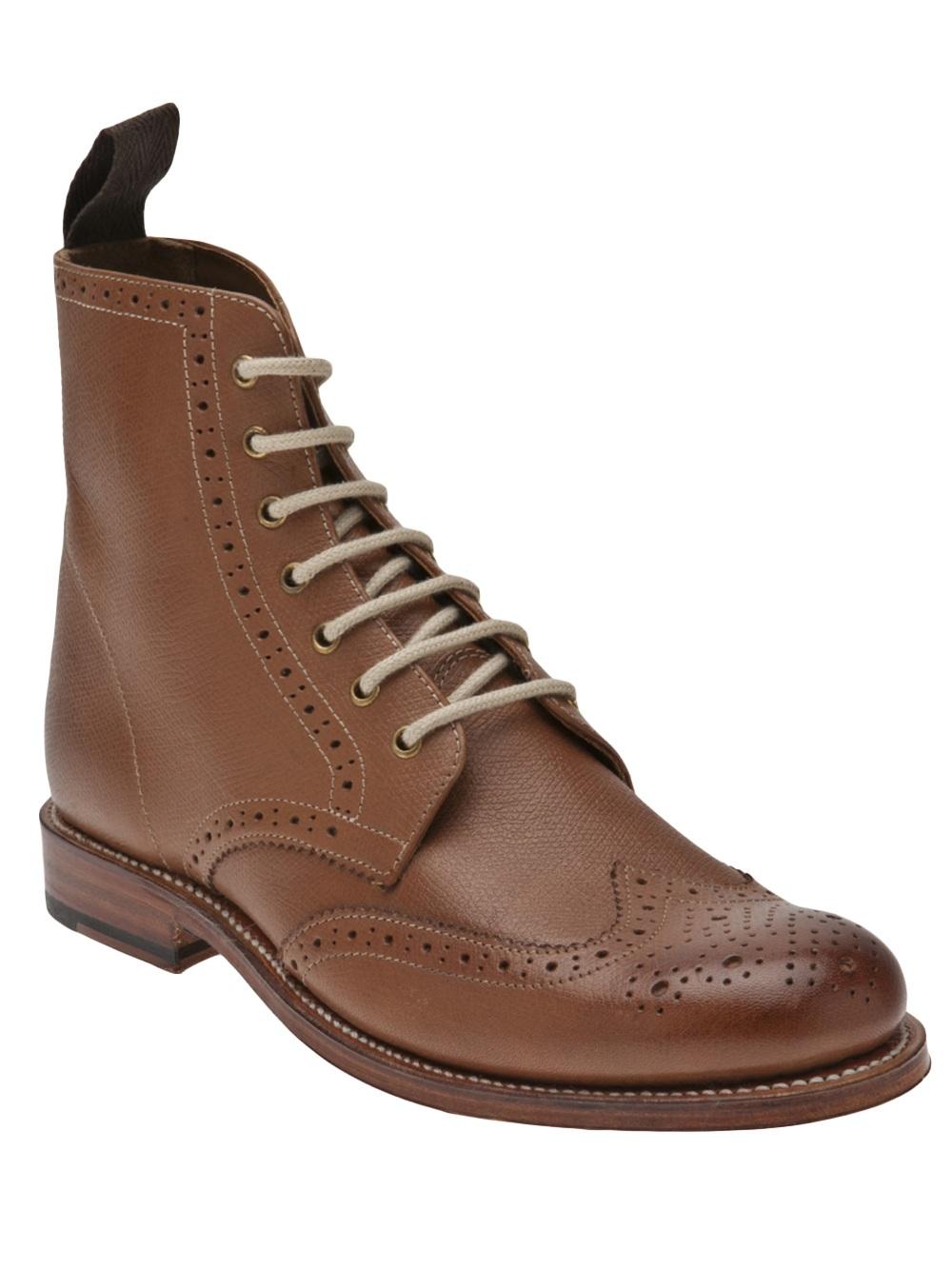 grenson ella brogue boot in brown lyst