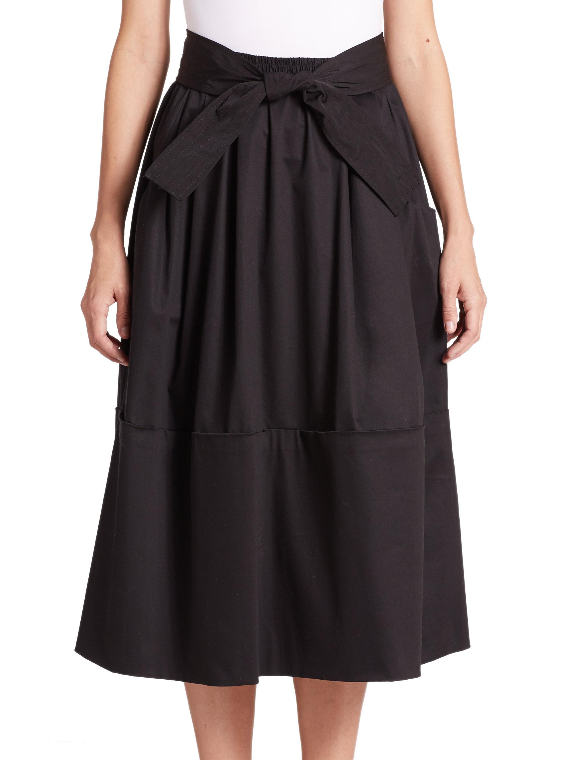Lyst - Tome Cotton Sateen Dirndl Skirt in Black