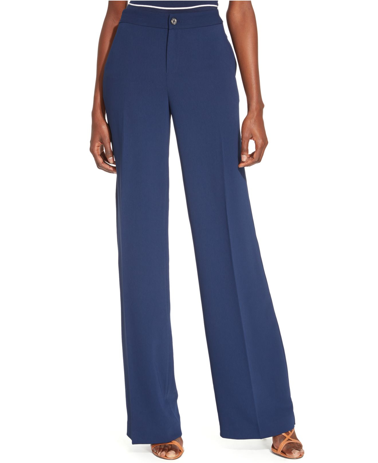 Elegant Lauren By Ralph Lauren  Black Plus Stretchcotton Skinny Pants  Lyst