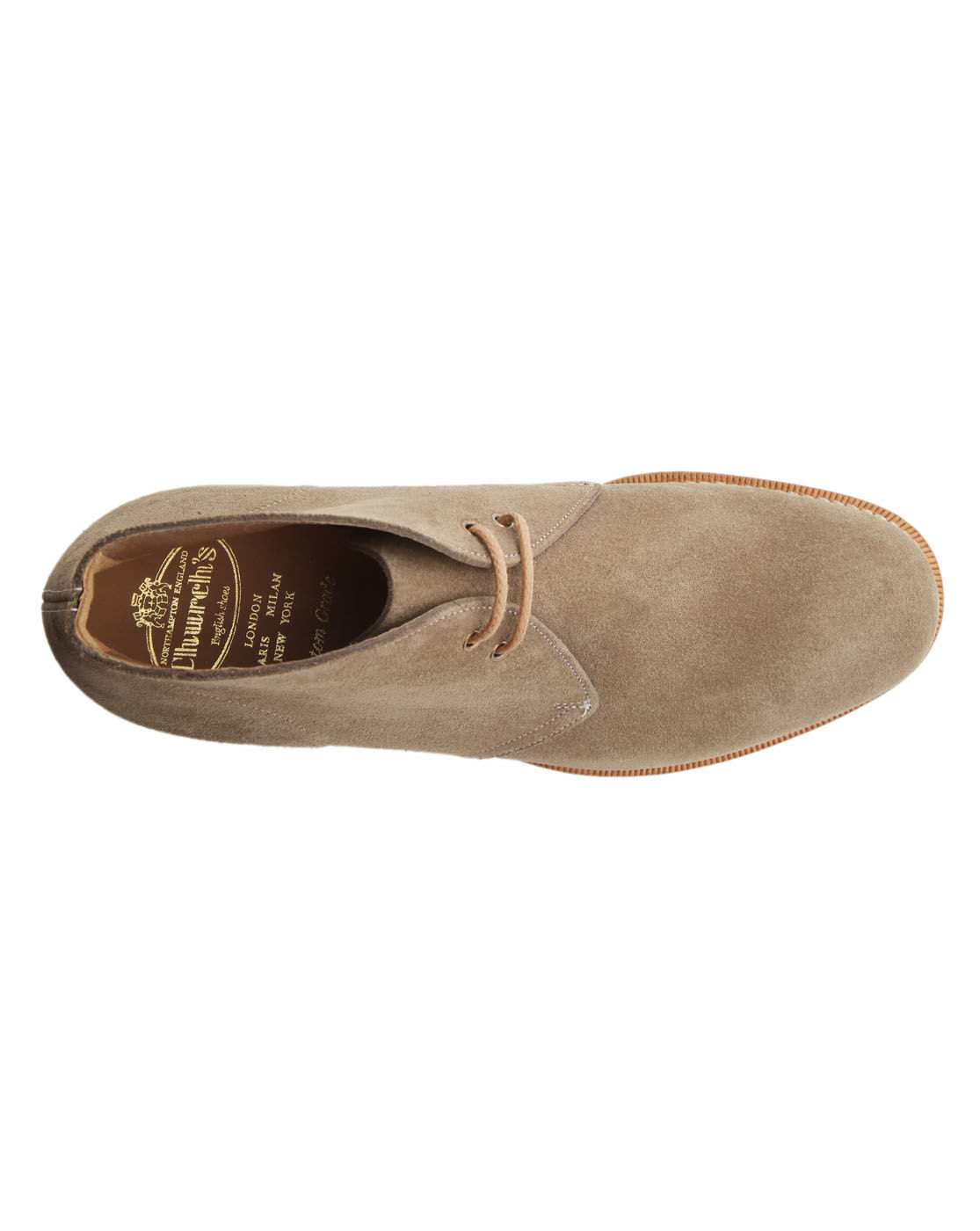 Church 39 s sahara taupe suede desert boots in beige for men taupe lyst Sdb chocolat taupe
