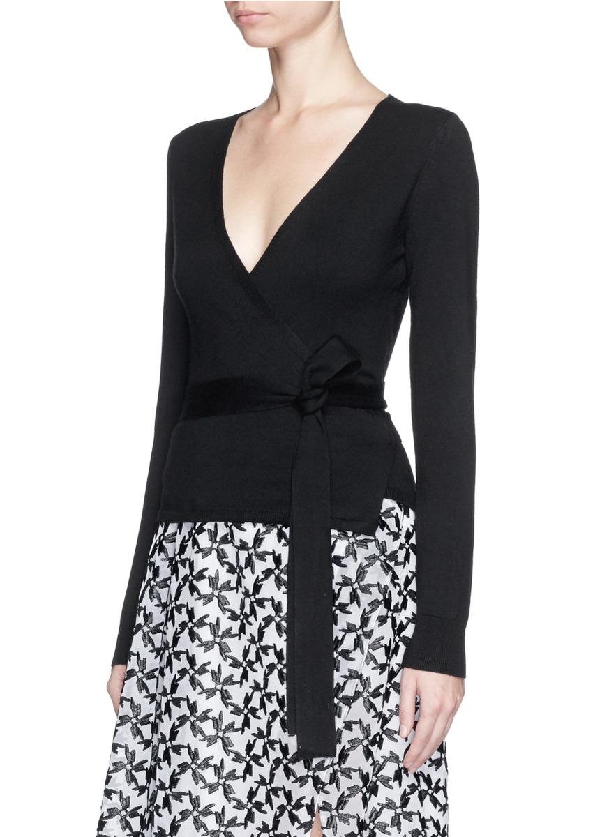 Diane von furstenberg Silk Cashmere Ballerina Wrap Cardigan in ...