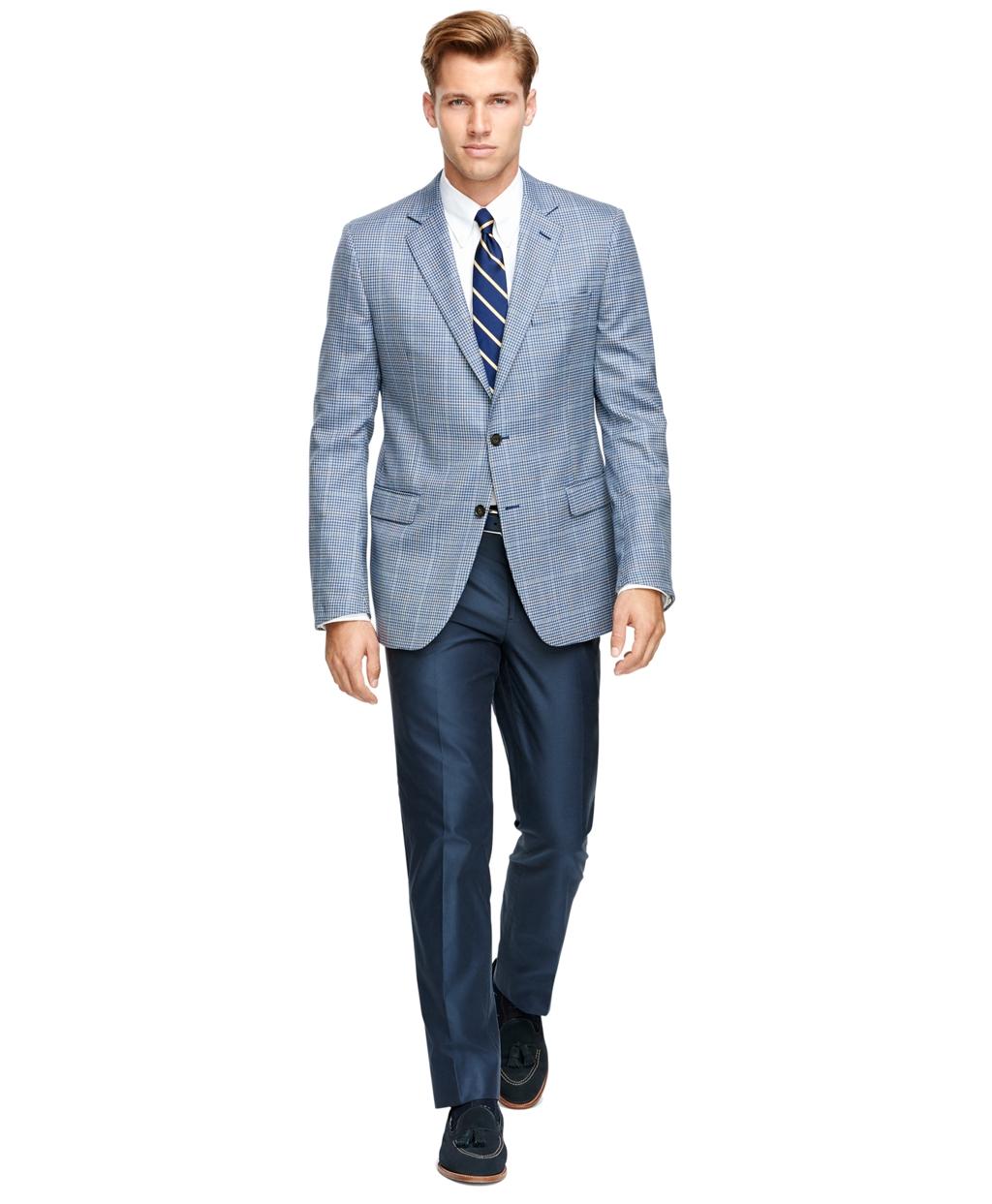 Brooks brothers Fitzgerald Fit Saxxon® Wool Check With Windowpane