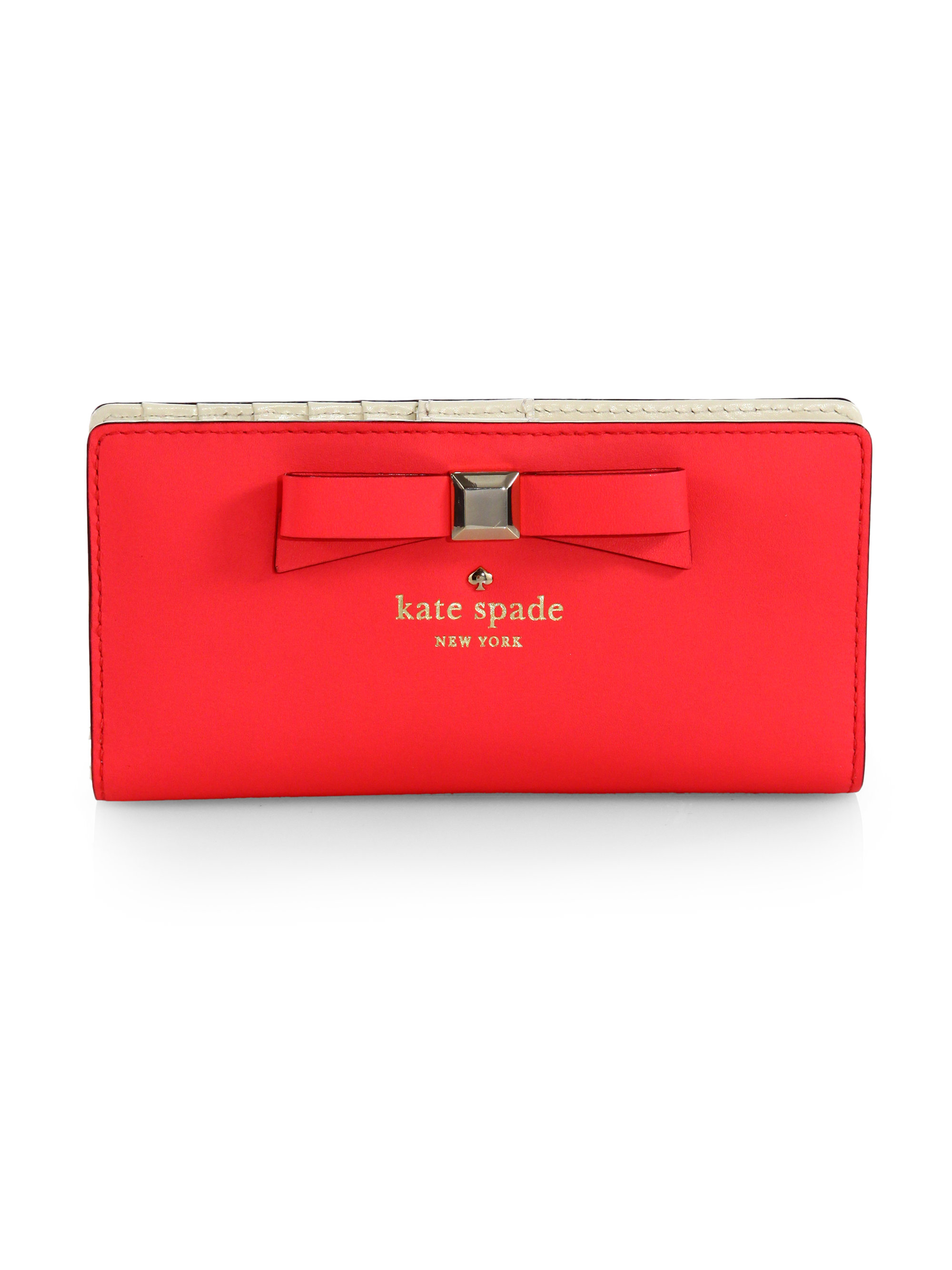 37b01491b1b9 Lyst - Kate Spade Holly Street Lacey Continental Wallet in Red