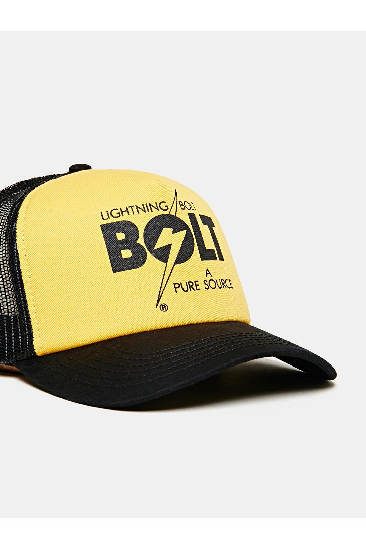 Lyst Lightning Bolt A Pure Source Trucker Hat In Yellow