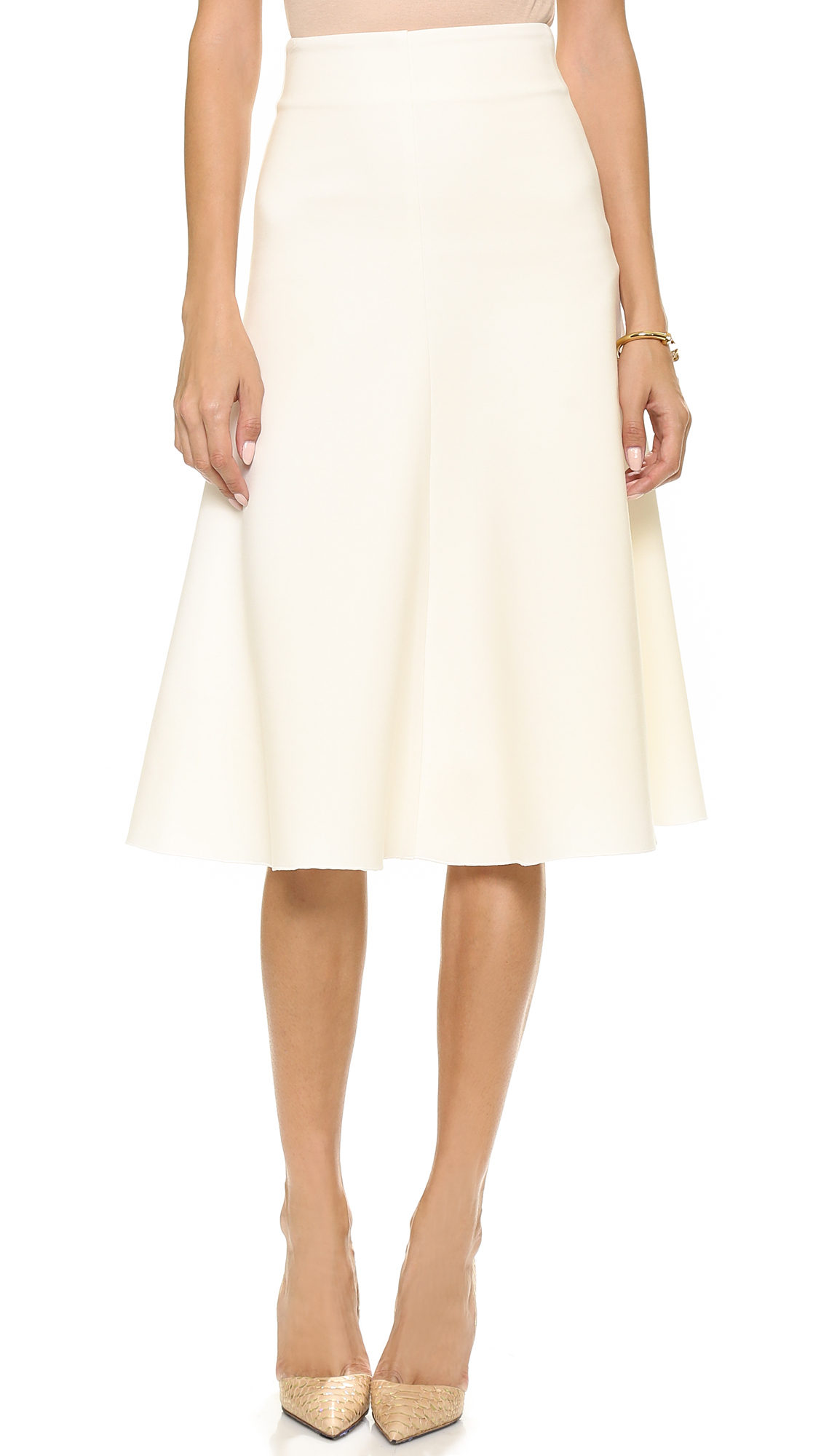 7df2831c349 Nicholas Ponte Flare Skirt Black in White - Lyst
