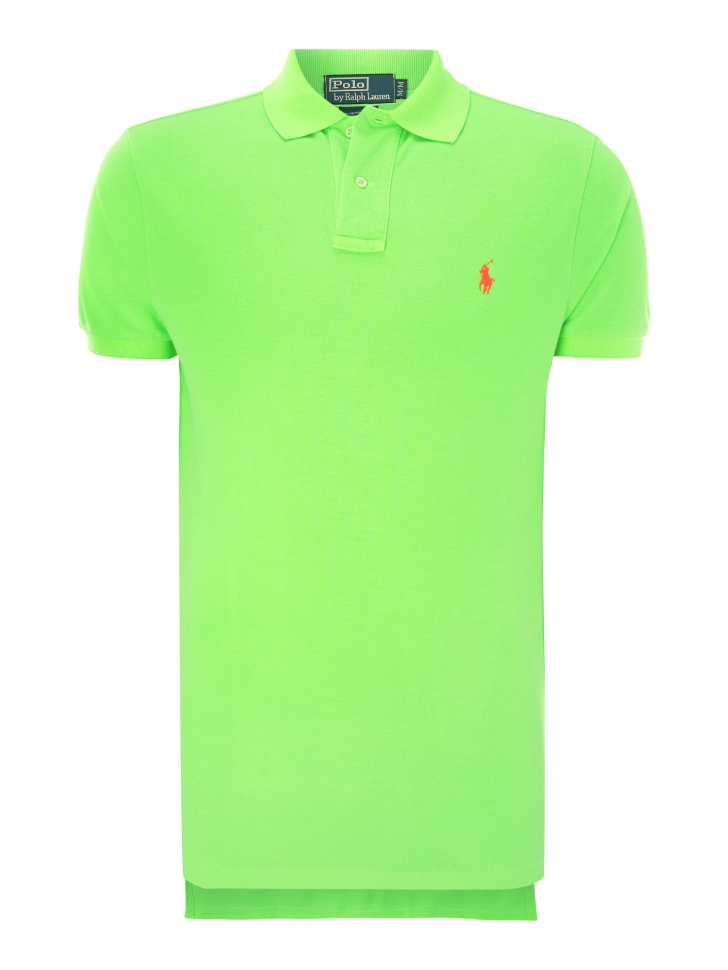 polo ralph lauren neon polo shirt in green for men lyst