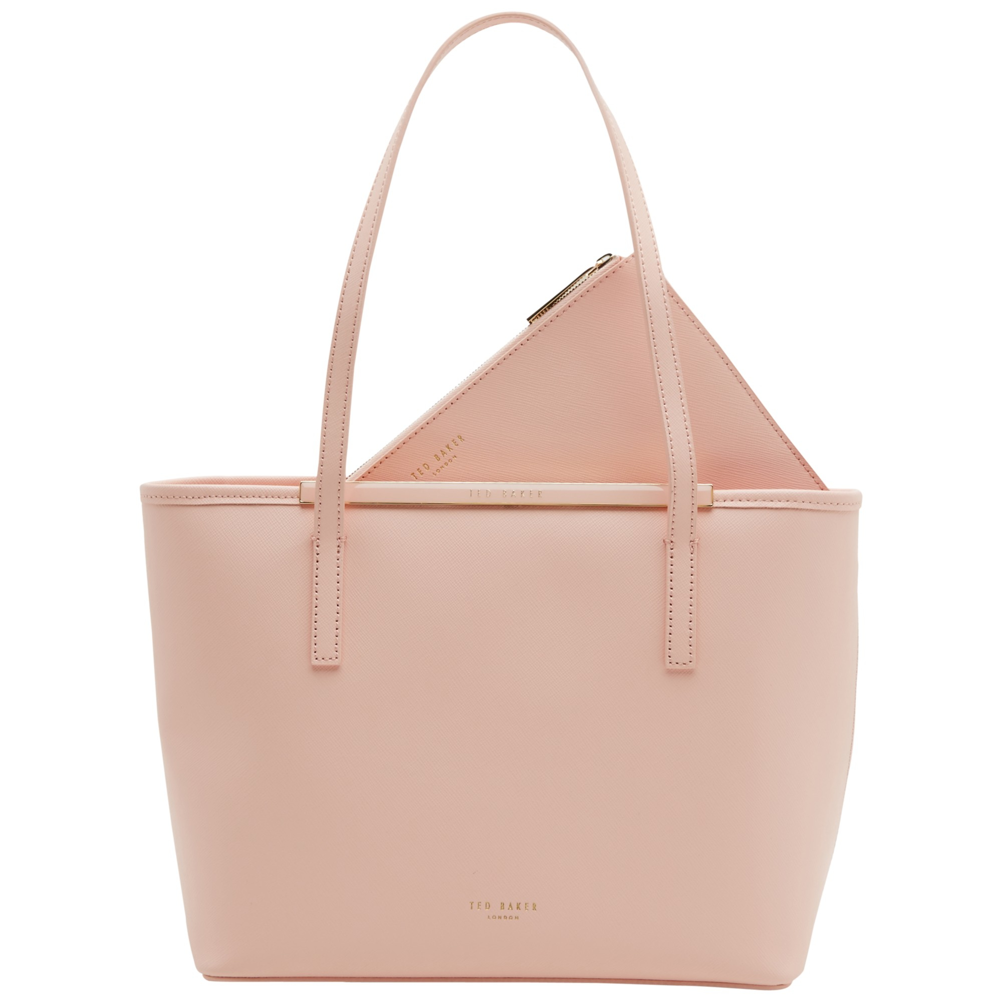 d80d0c13f Ted Baker Ammber Small Crosshatch Leather Shopper Bag in Pink - Lyst