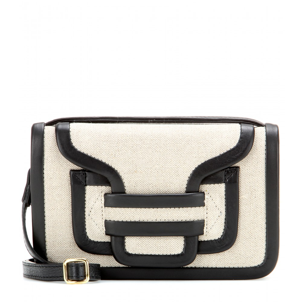 6eb8d2616f0 Lyst - Pierre Hardy Bag 61 Leather and Linen Shoulder Bag in Natural