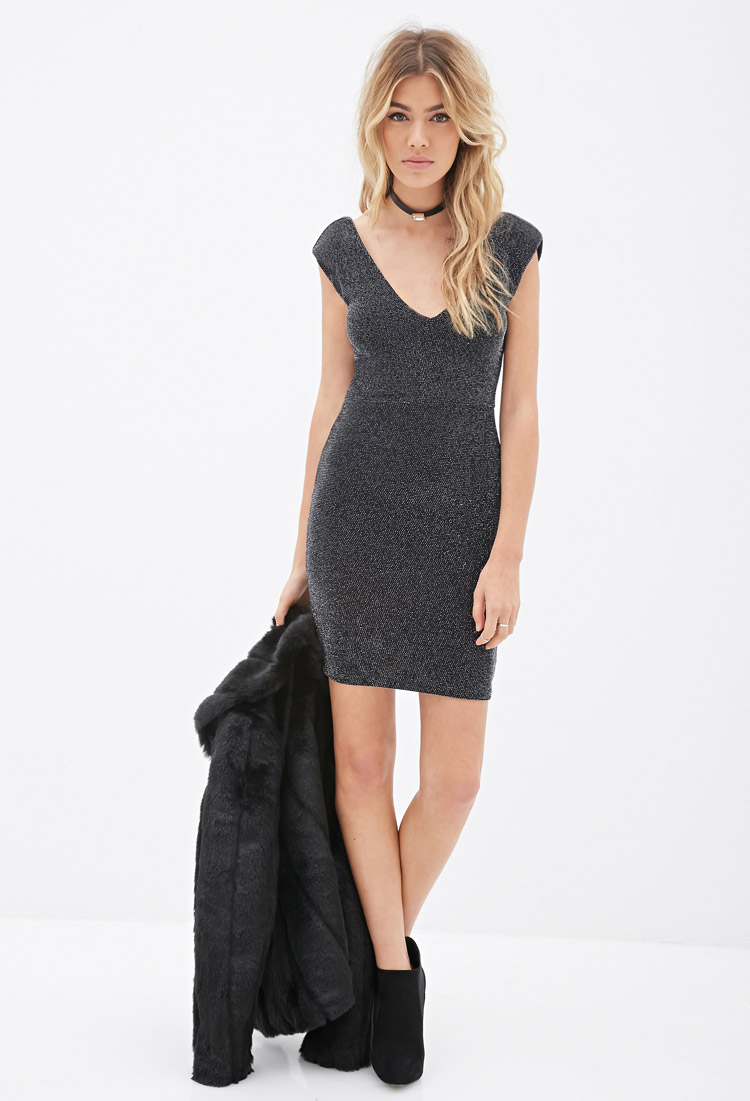 Forever 21 Metallic Bodycon Dress You Ve Been Added To The