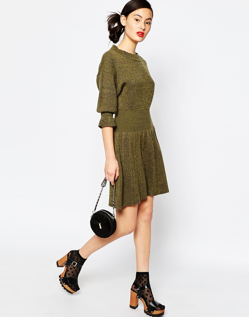 06563c1f652 Sonia by Sonia Rykiel Knitted Dress In Merino Wool in Brown - Lyst