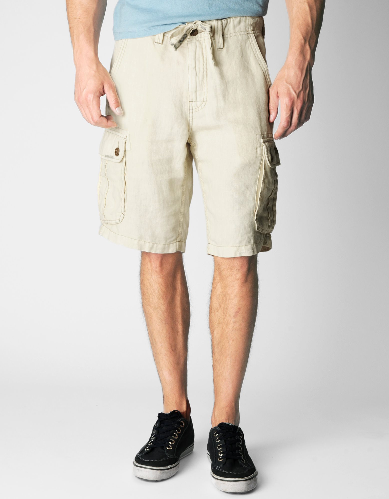 True religion Recon Linen Mens Cargo Short in Natural for Men | Lyst