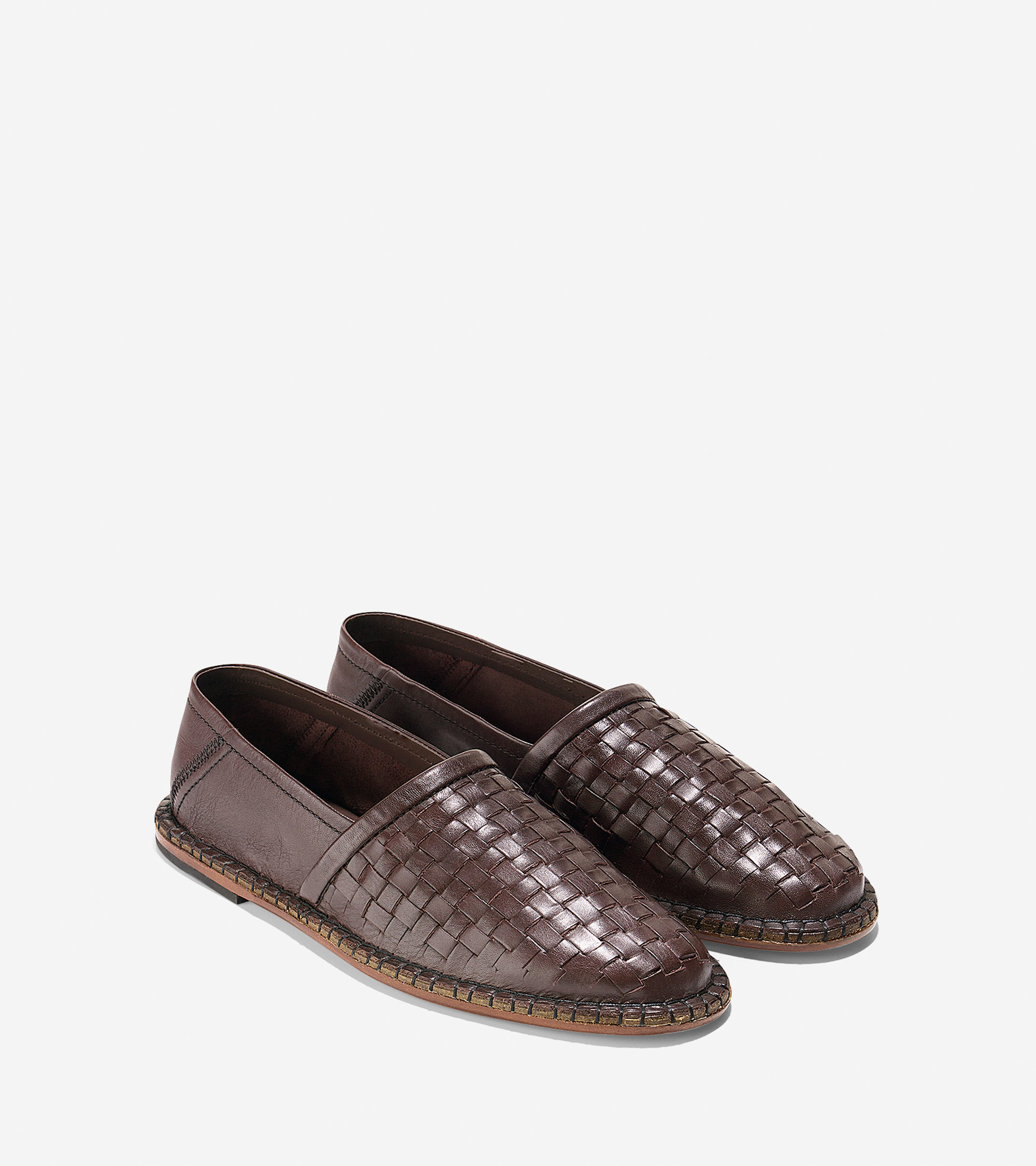 Cole Haan Camden Woven Loafer In Brown For Men Lyst