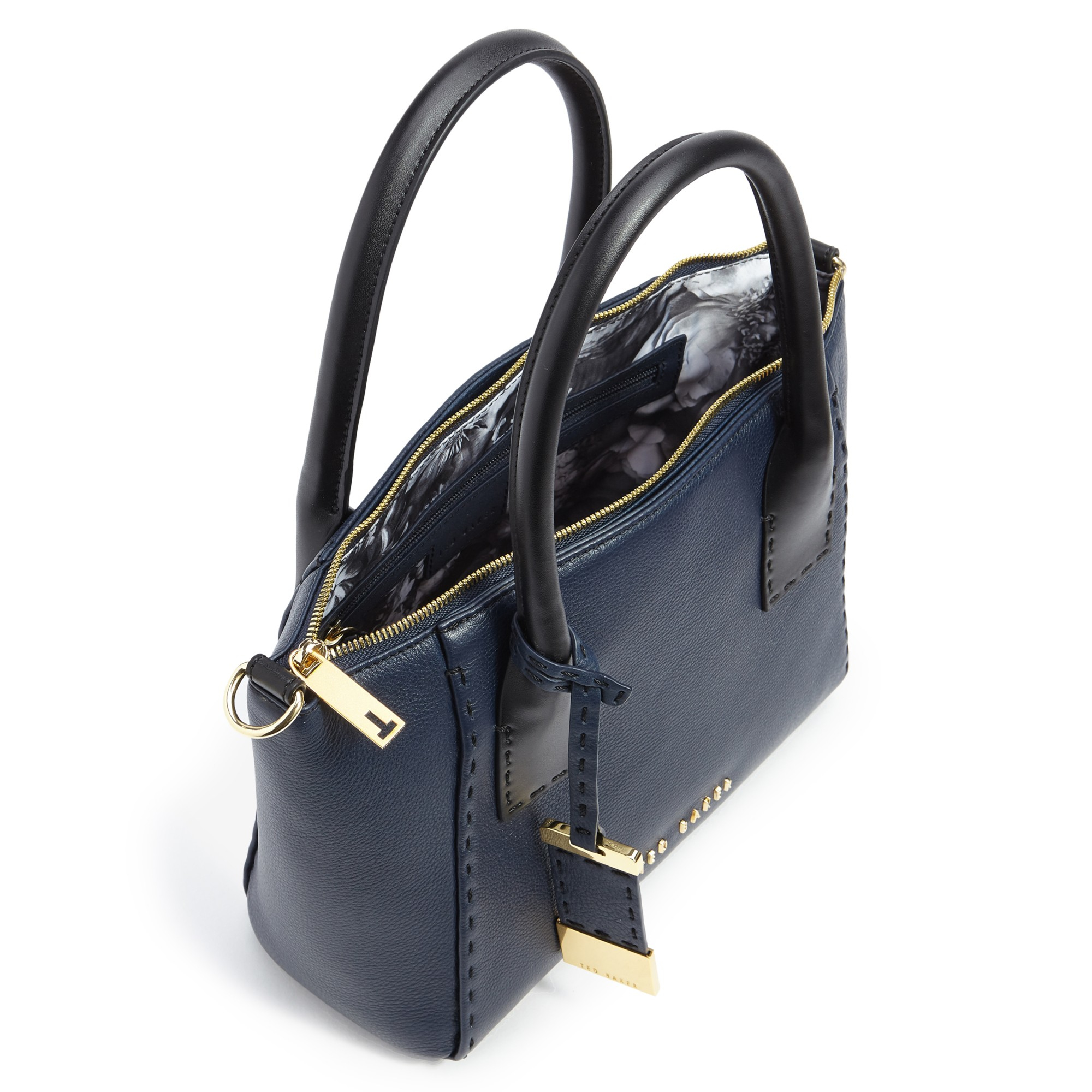dddb21fa9f31 Ted Baker Lauren Small Leather Tote Bag in Blue - Lyst