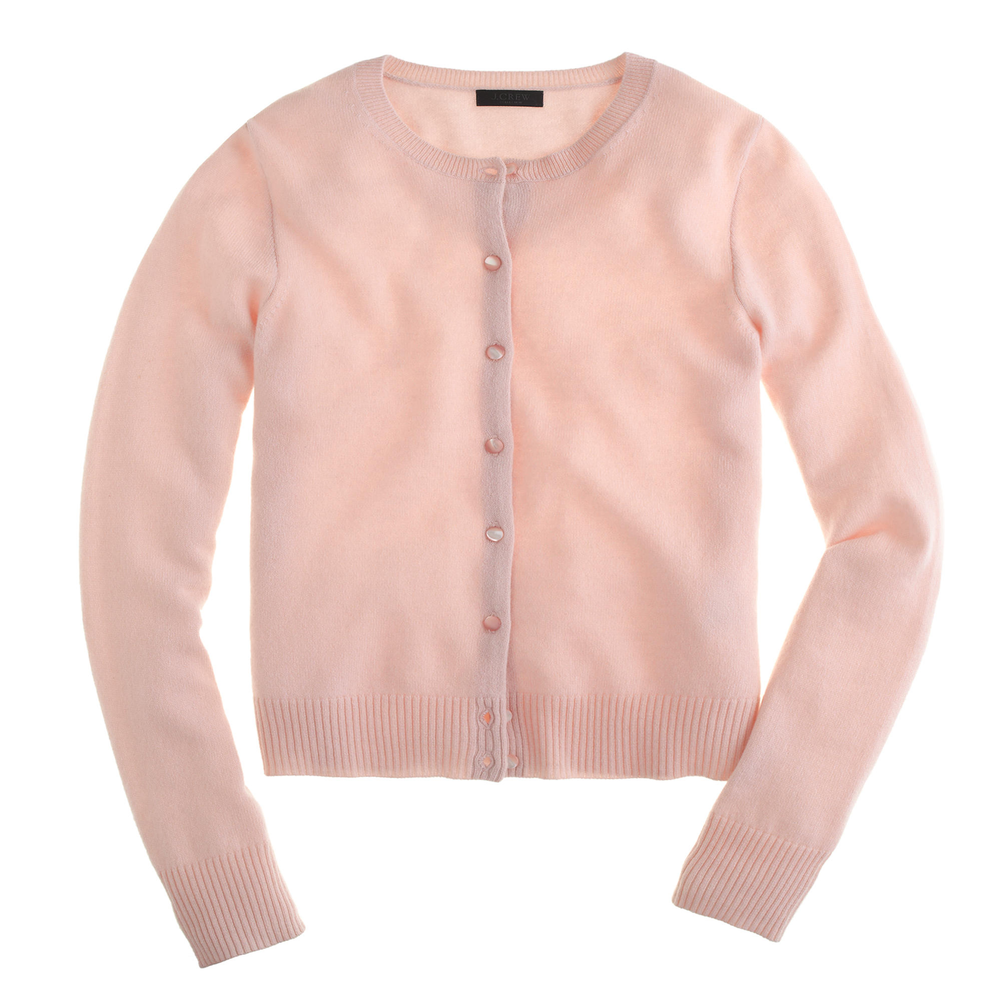 J.crew Collection Cashmere Cardigan Sweater in Pink | Lyst