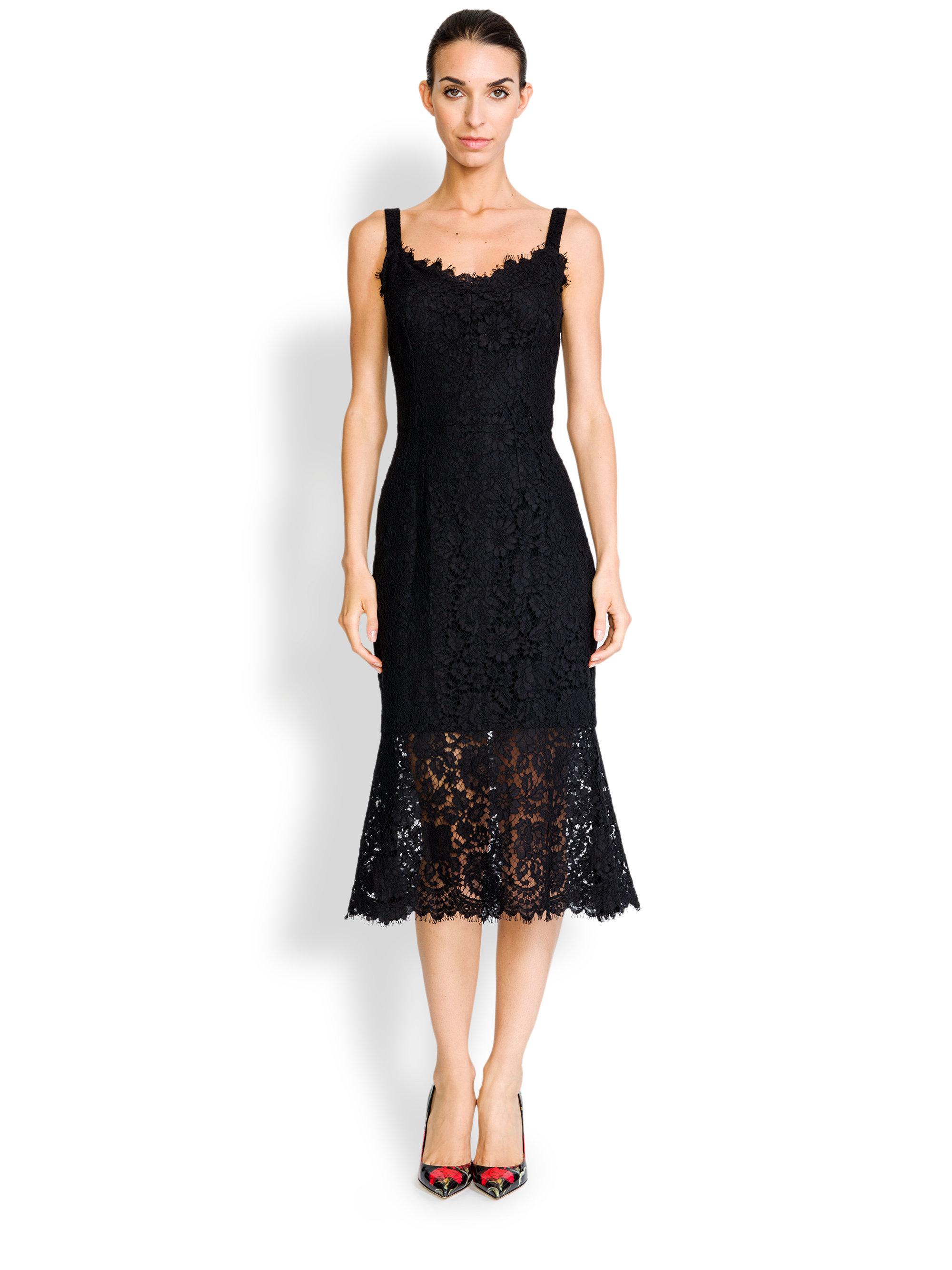 49926fbbb Dolce And Gabbana Black Dress. Dolce   gabbana Lace Corset Dress in Black