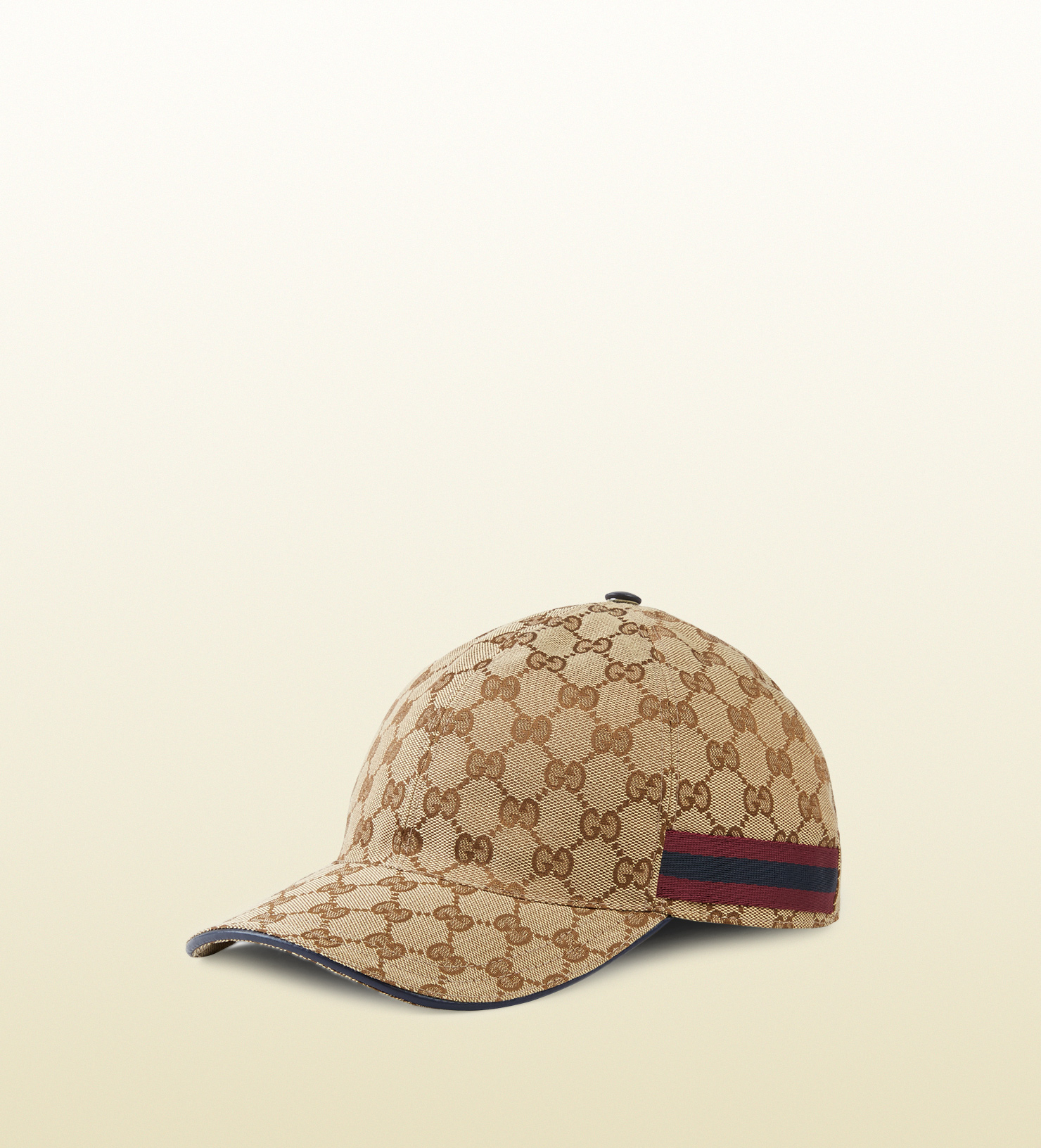 1ba3700f6d0507 Lyst - Gucci Original Gg Baseball Hat With Web Detail in Natural for Men