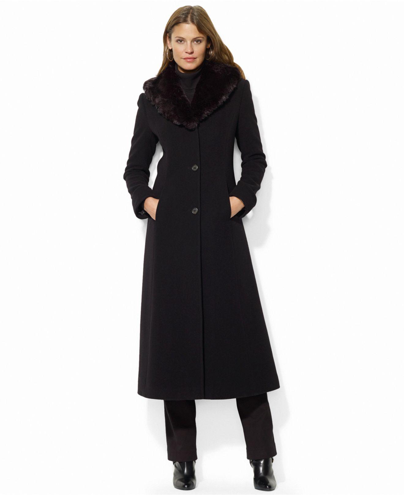Black mac coat women