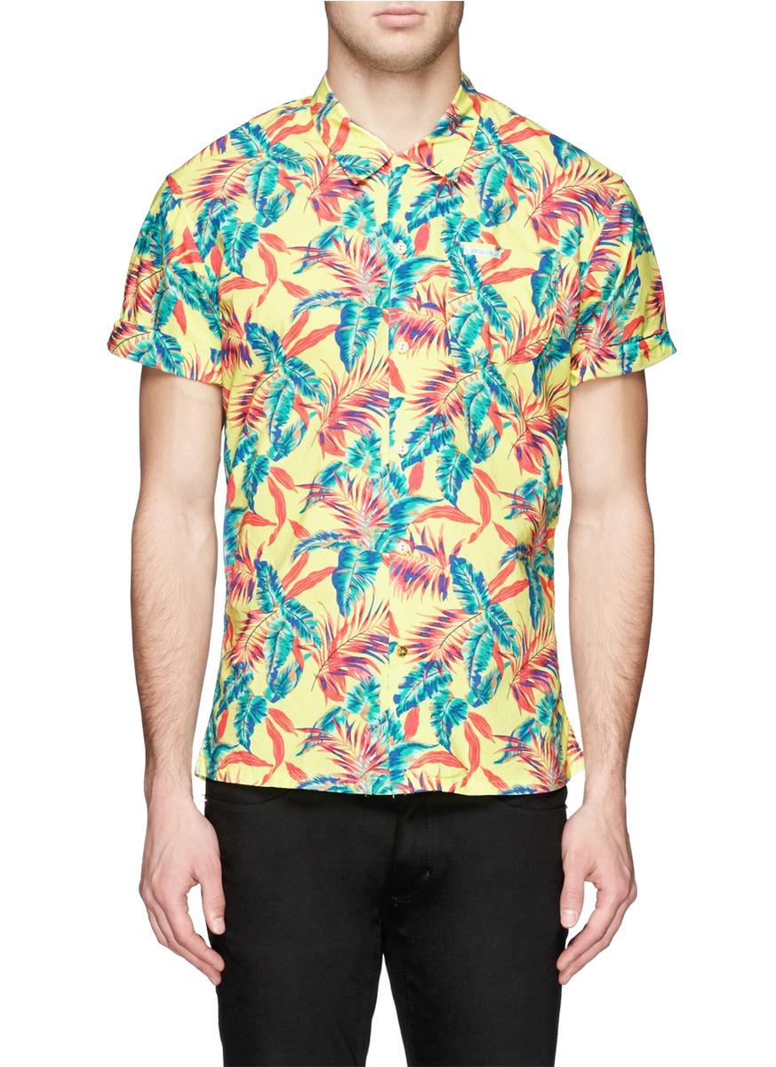 169b9d1c Scotch & Soda Hawaiian Floral Print Short-sleeve Shirt for Men - Lyst