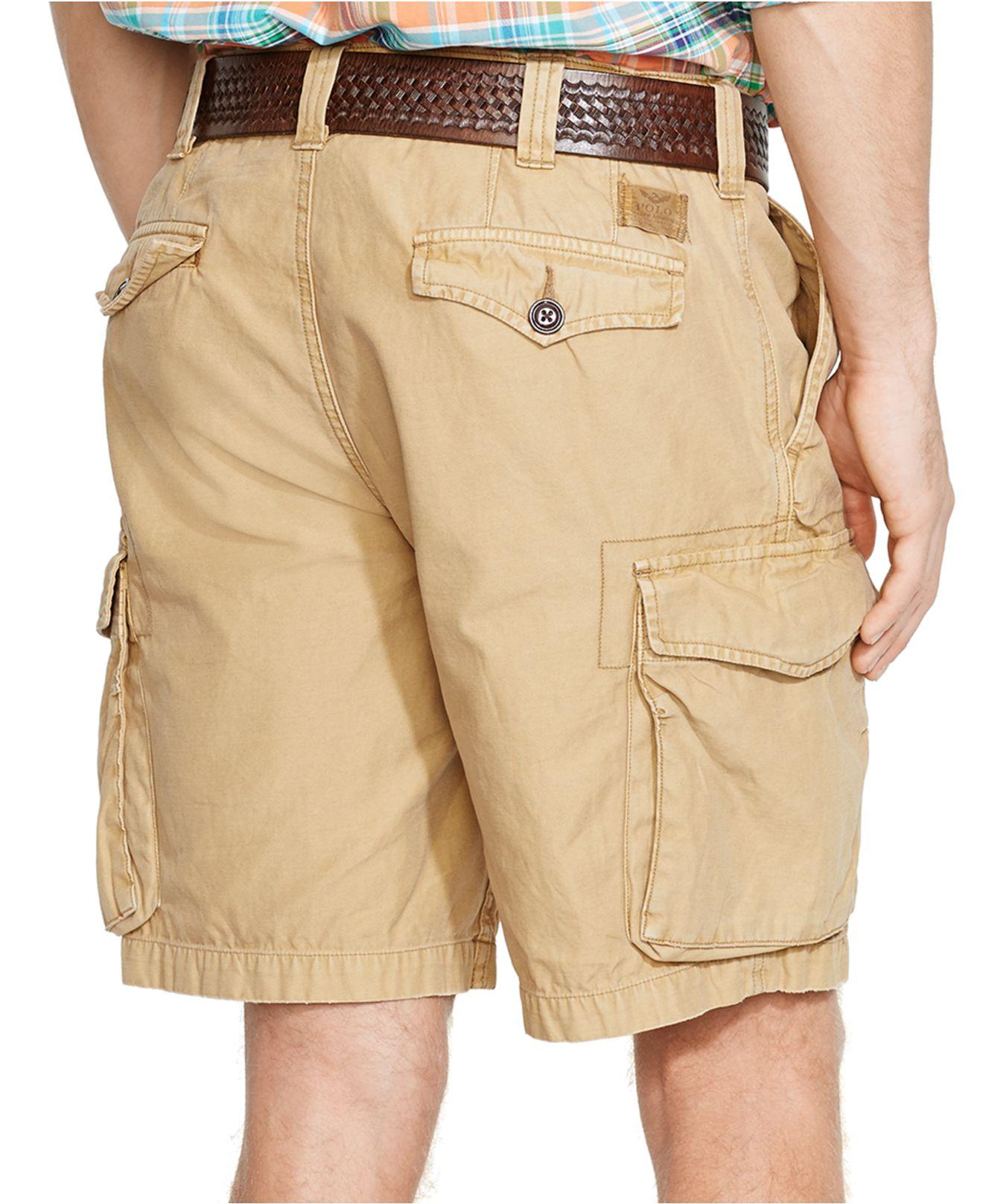 Polo khaki shorts for men