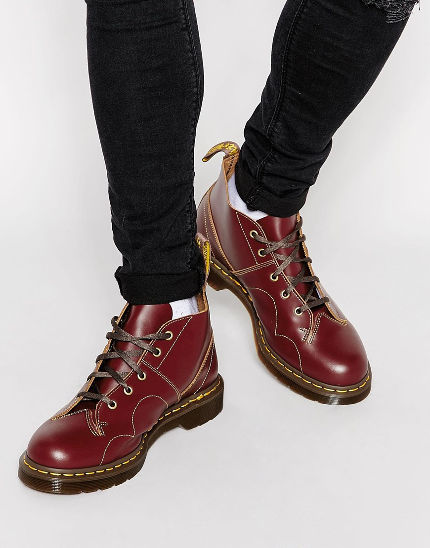 8be56307bc15 Lyst - Dr. Martens Monkey Boots in Red for Men