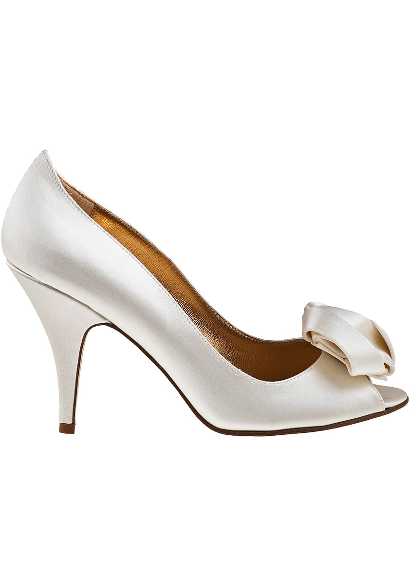 be2f34f796eb Lyst - Kate Spade Clarice Evening Pump Ivory Satin in White