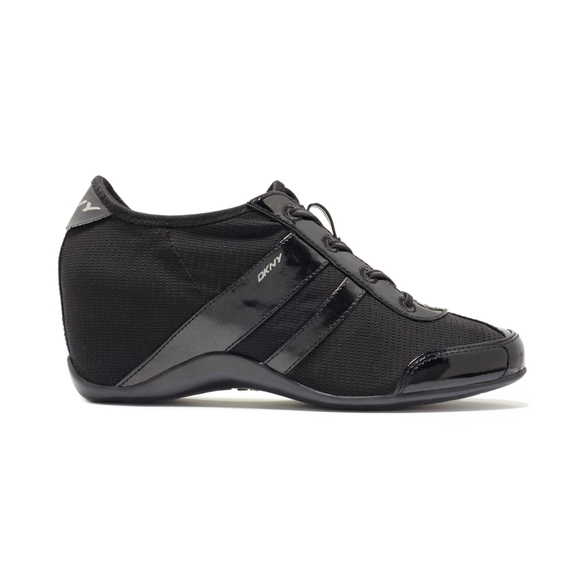 Dkny Paige Wedge Sneakers in Black