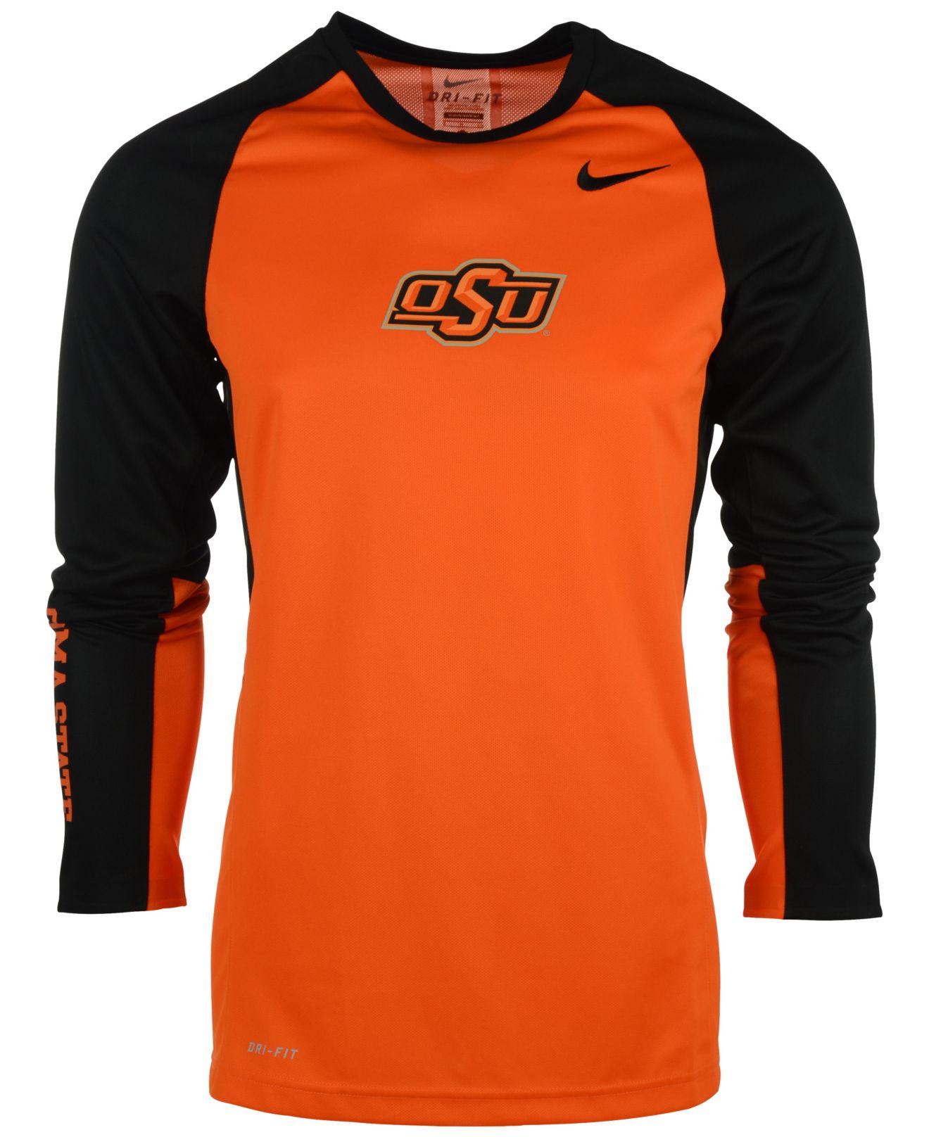 63c5eeab Nike Men's Long-sleeve Oklahoma State Cowboys Elite Shootaround T ...