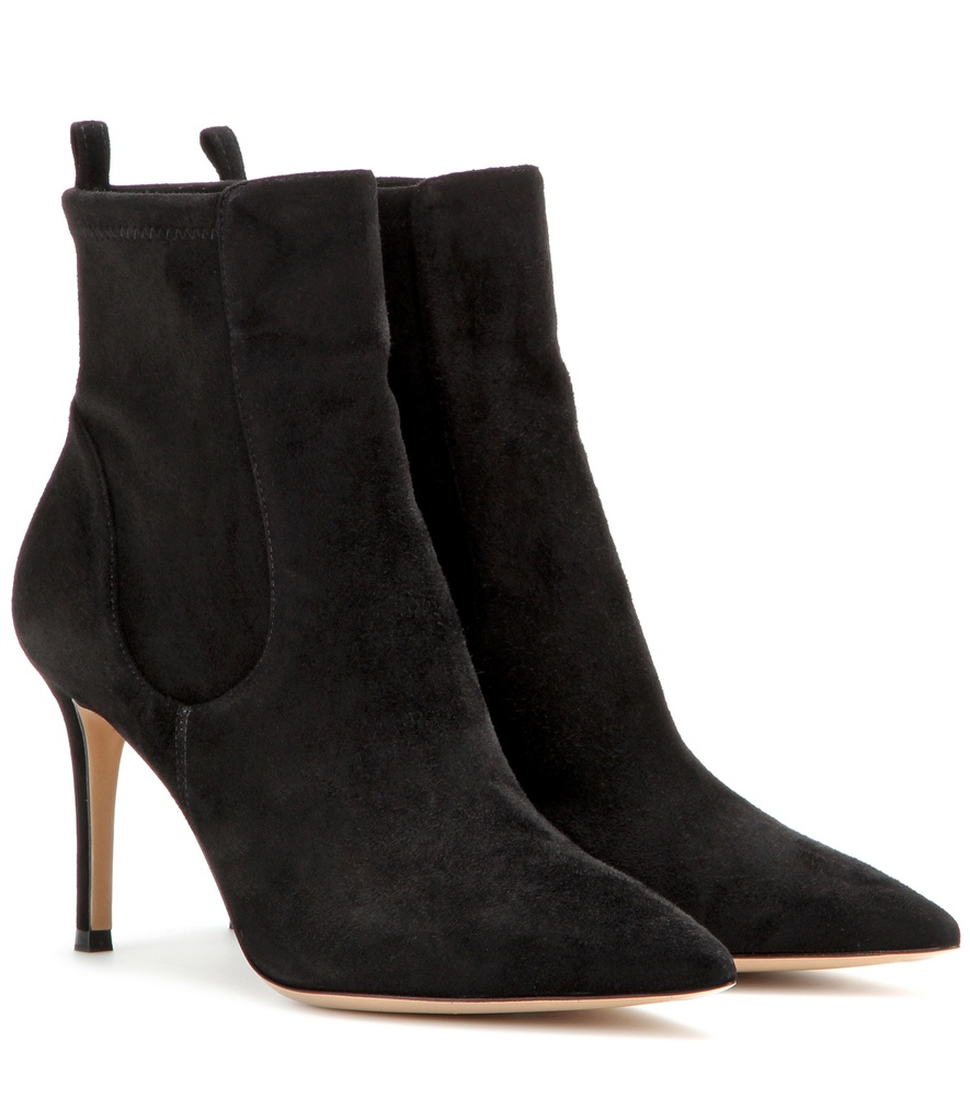 gianvito rossi bennett suede ankle boots in black lyst. Black Bedroom Furniture Sets. Home Design Ideas