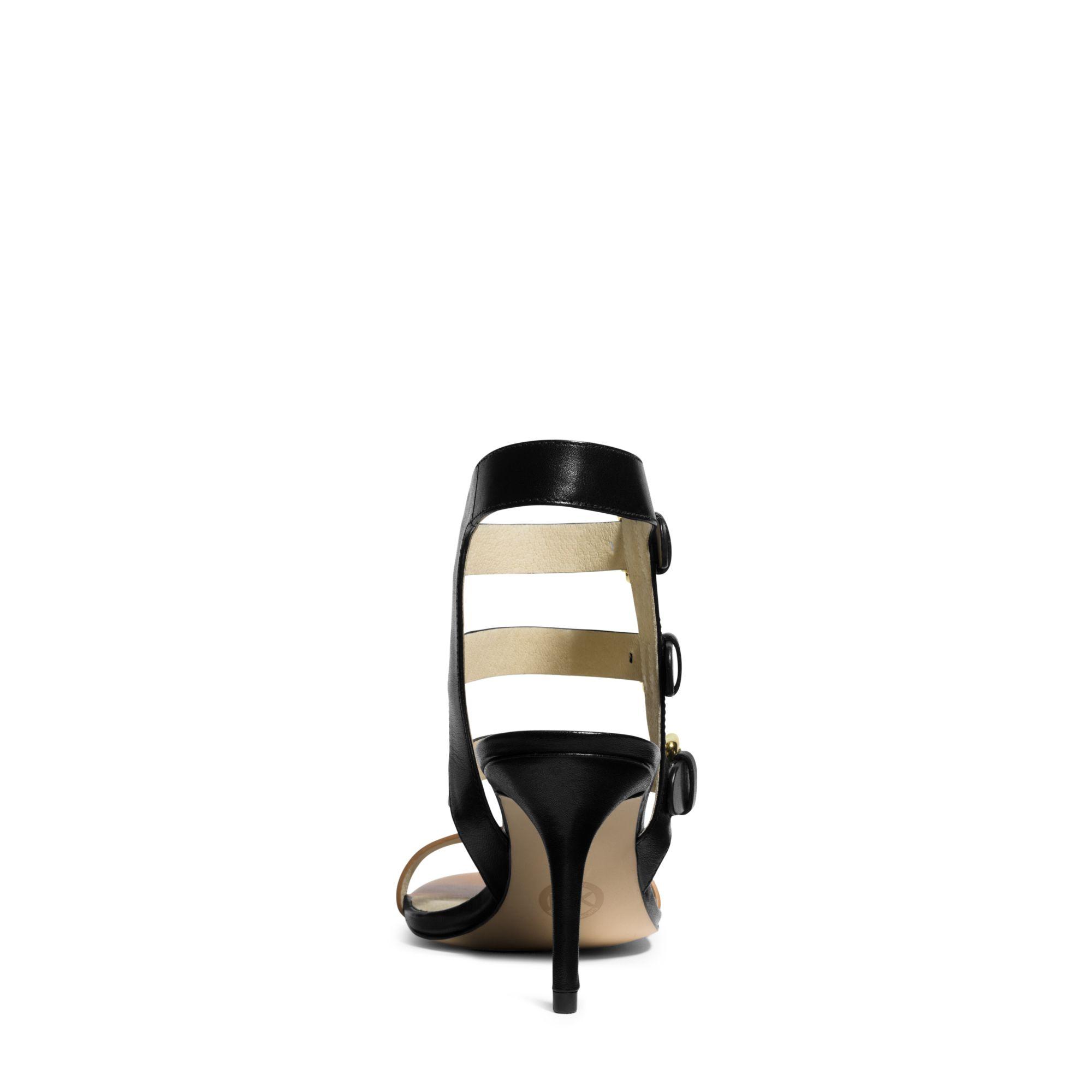 Lyst Michael Kors Beverly Leather Sandal In Black