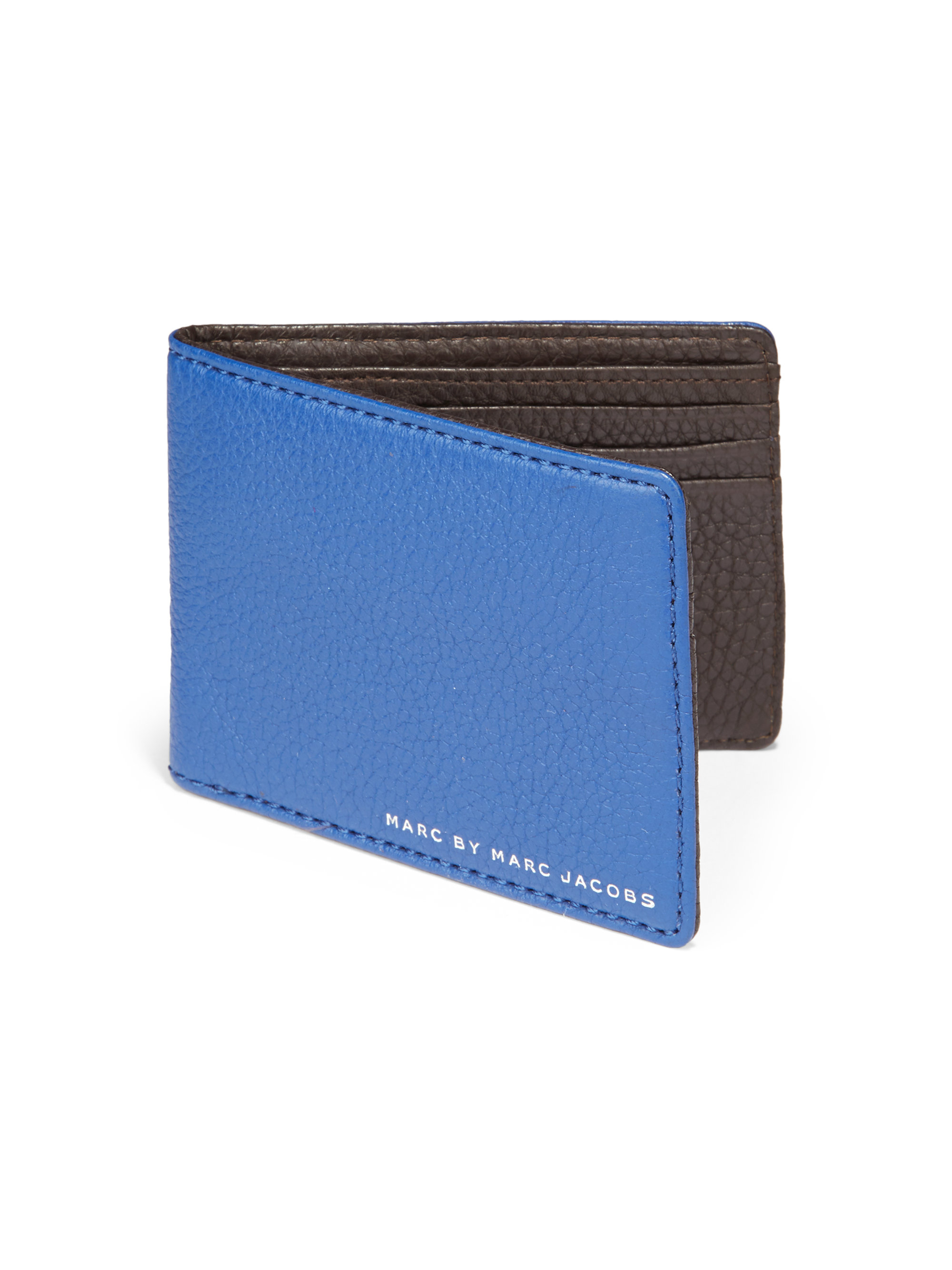 Marc By Marc Jacobs Martin Leather Wallet In Blue For Men
