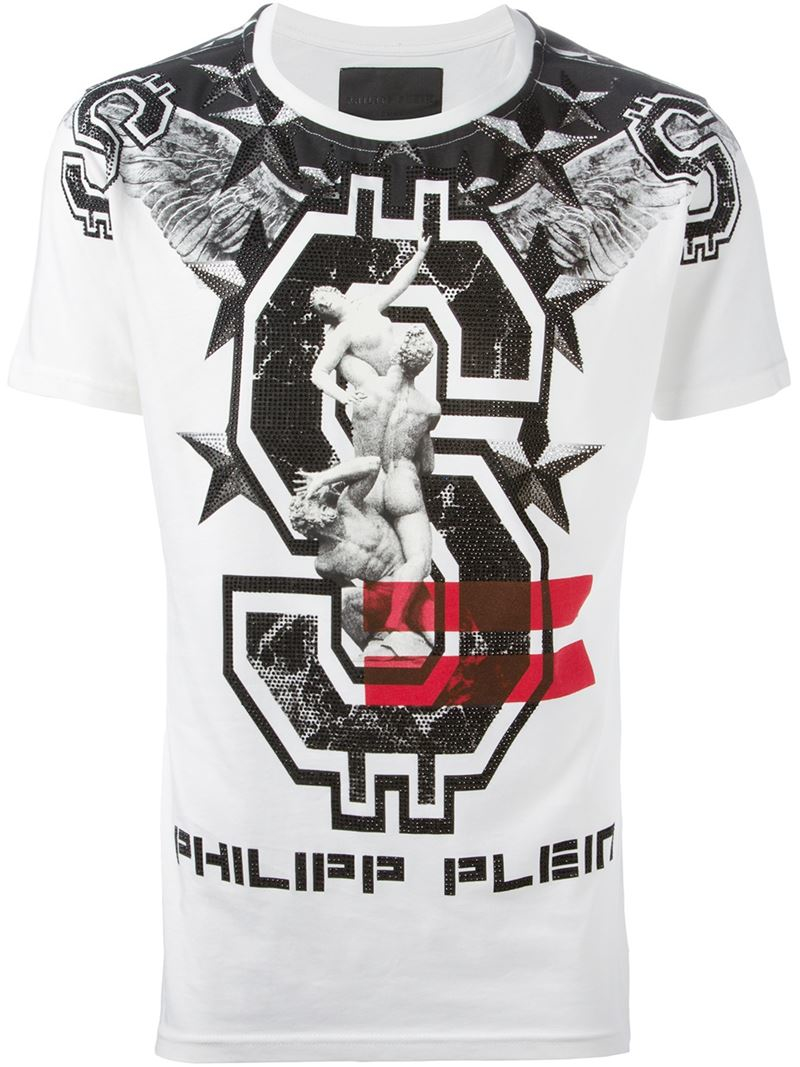philipp plein 39 acid dream 39 t shirt in white for men lyst. Black Bedroom Furniture Sets. Home Design Ideas