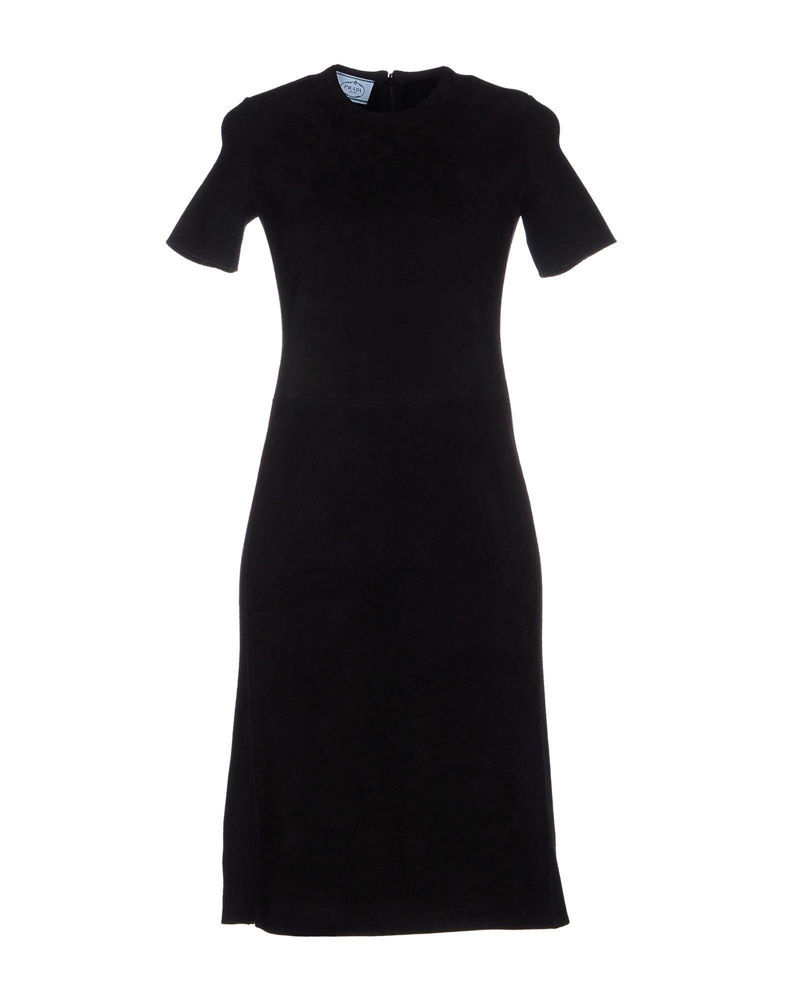 Prada knee length dress in black lyst
