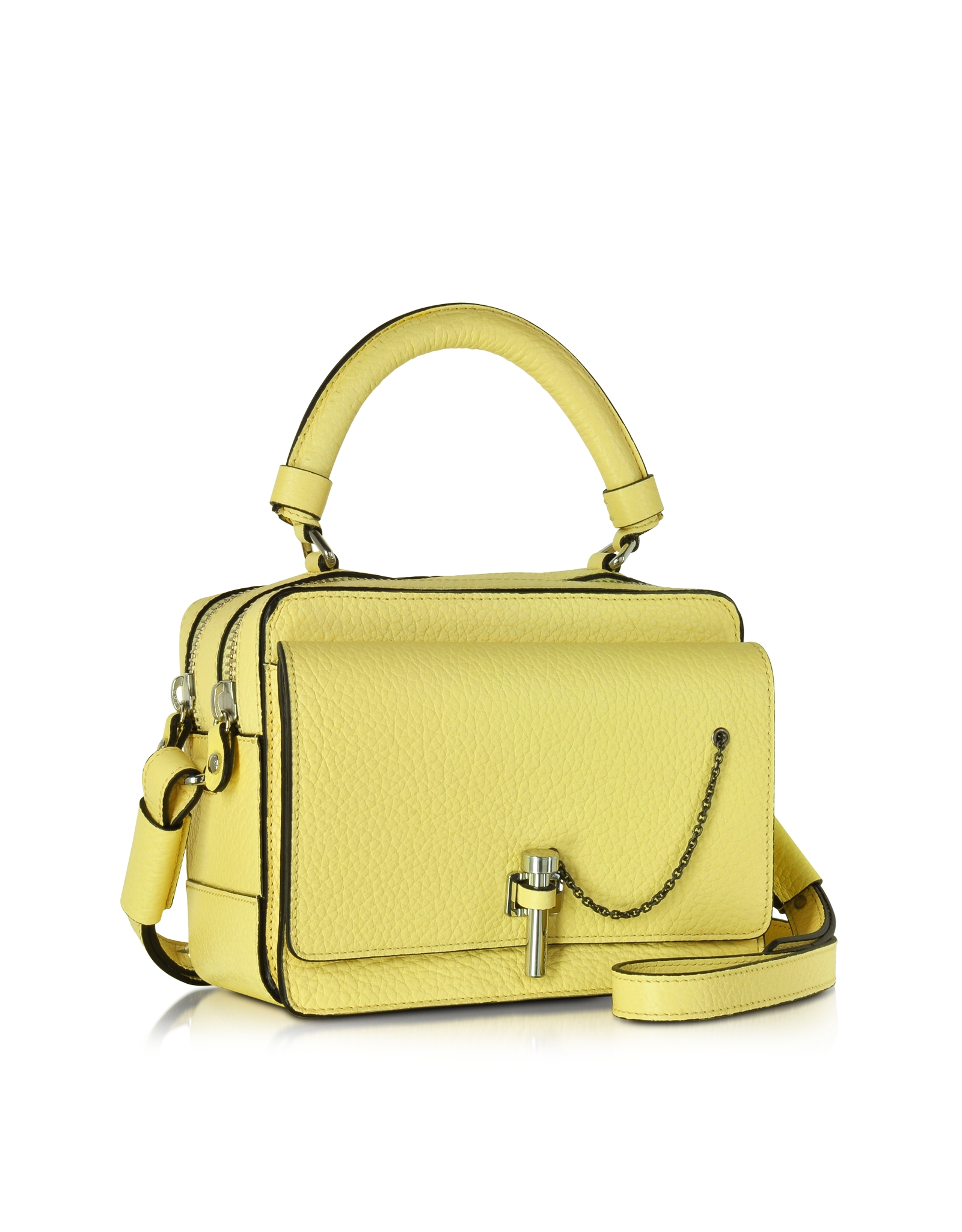 d796cd48912 Carven Malher Petit Jaune Pale Leather Camera Bag in Yellow - Lyst