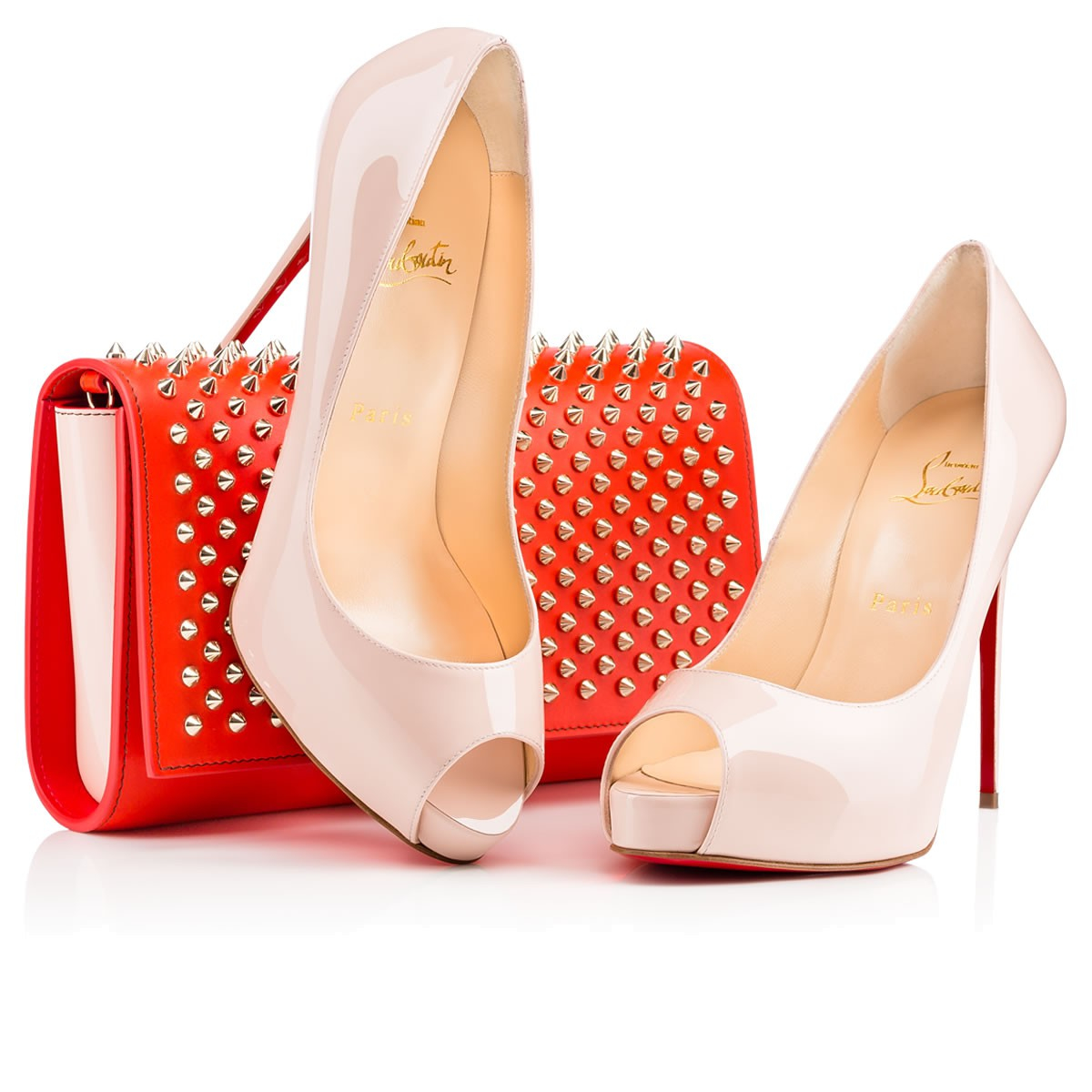 Christian louboutin Very Prive Patent Leather Platform Pumps in ...
