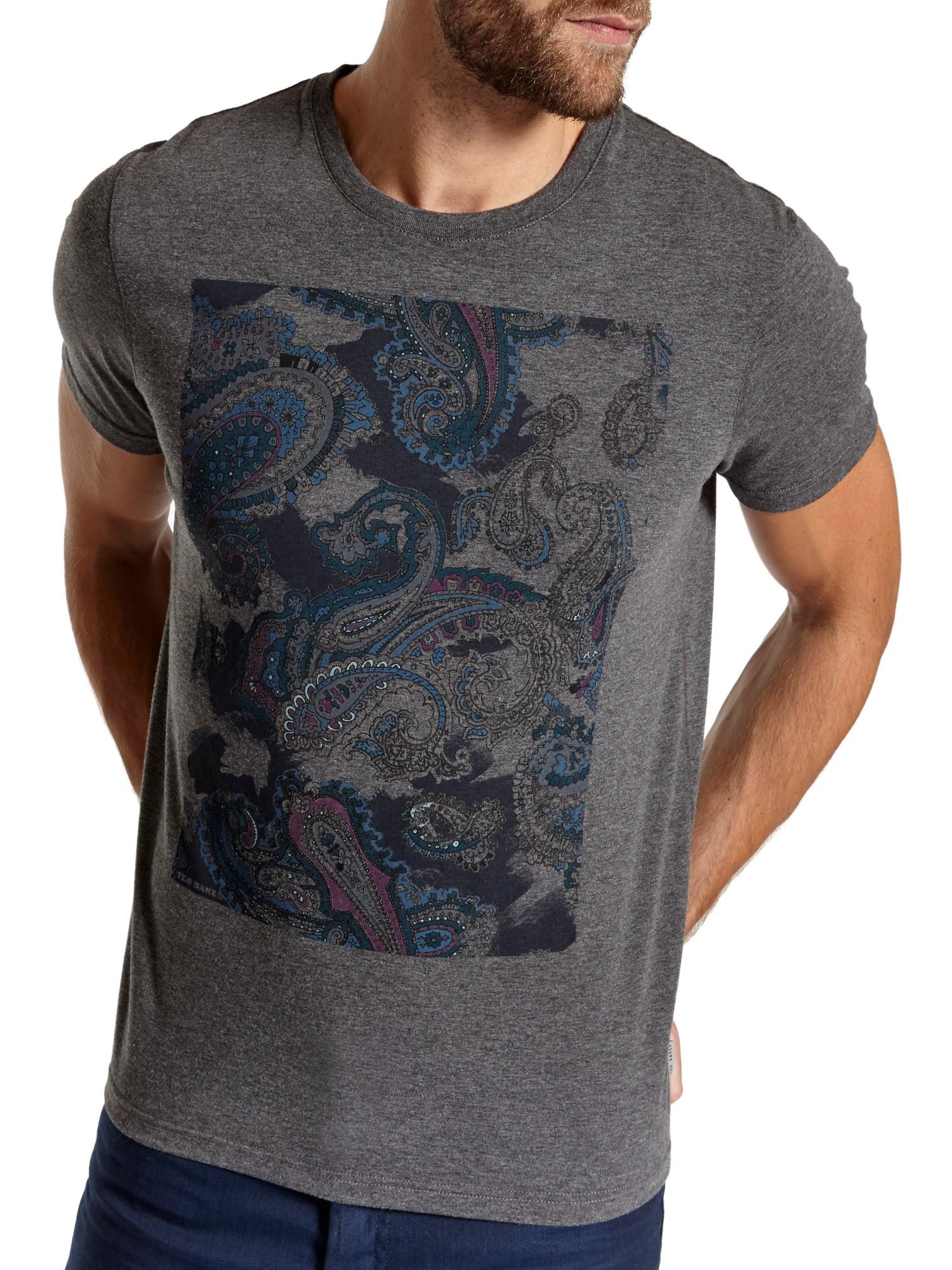 56848a374c9b Ted Baker Kestrol Paisley Print T-shirt in Gray for Men - Lyst