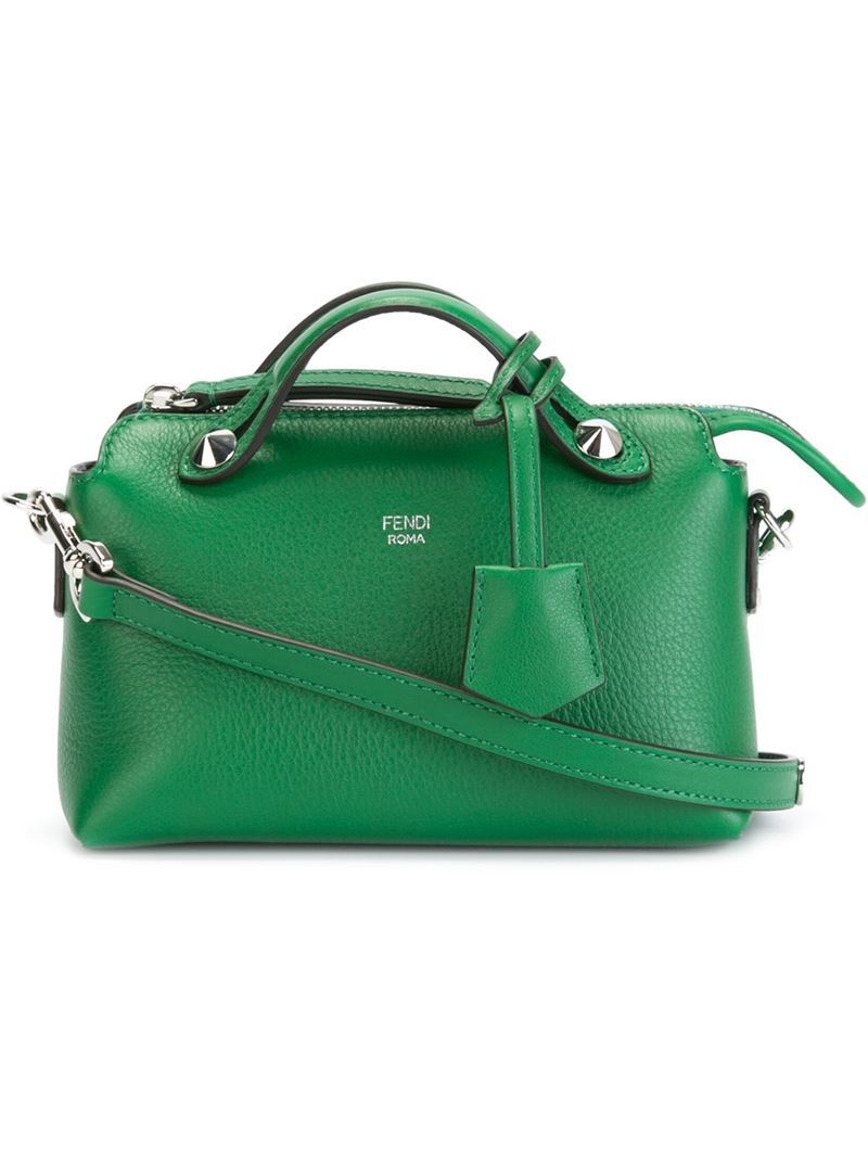 9afbb295f5 ... australia fendi by the way mini leather cross body bag in green lyst  111cd d0e57 ...