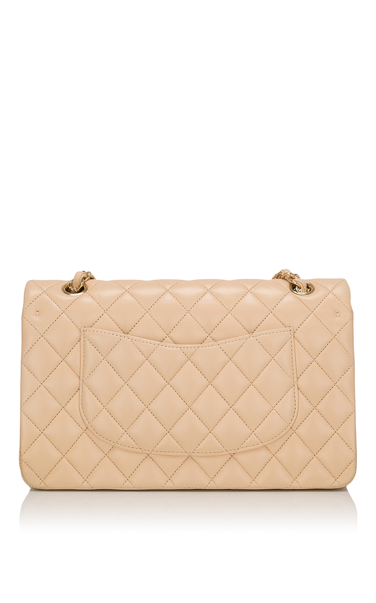 374fa73099c8 Madison Avenue Couture Chanel Beige Quilted Lambskin Large Classic ...