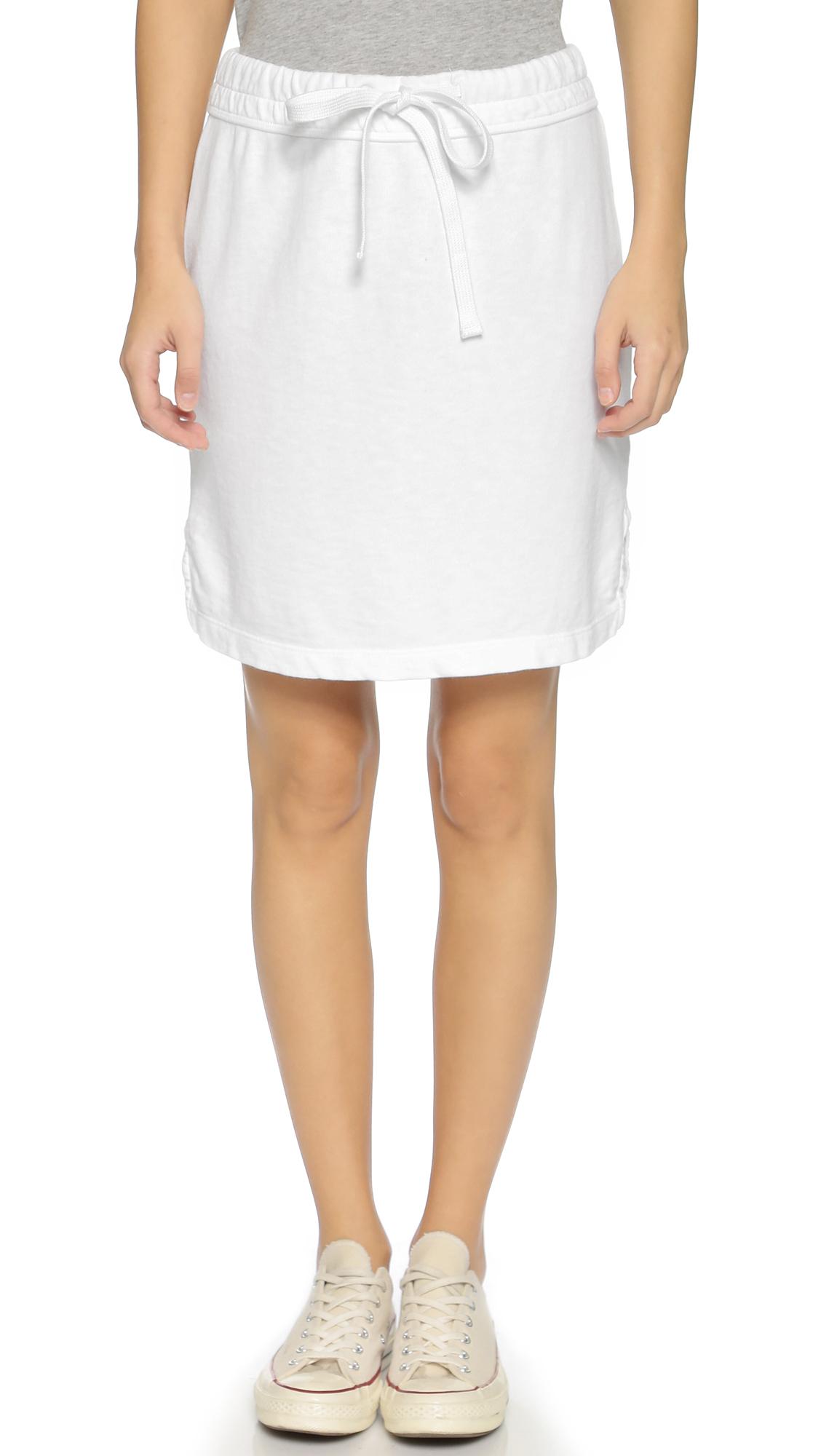 Lyst James Perse Drawstring Vintage Cotton Skirt White