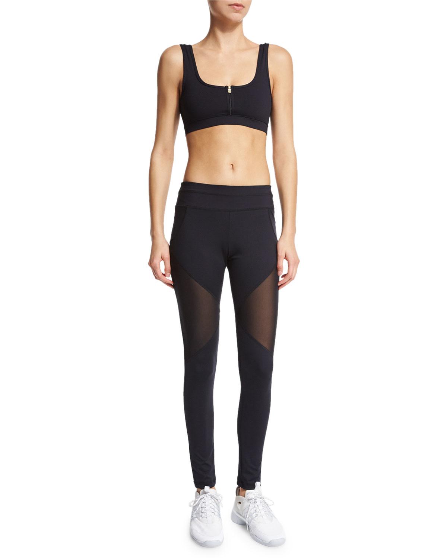 83d4b306d7c7f1 Varley Bicknell Sport Leggings W/mesh Inset in Black - Lyst