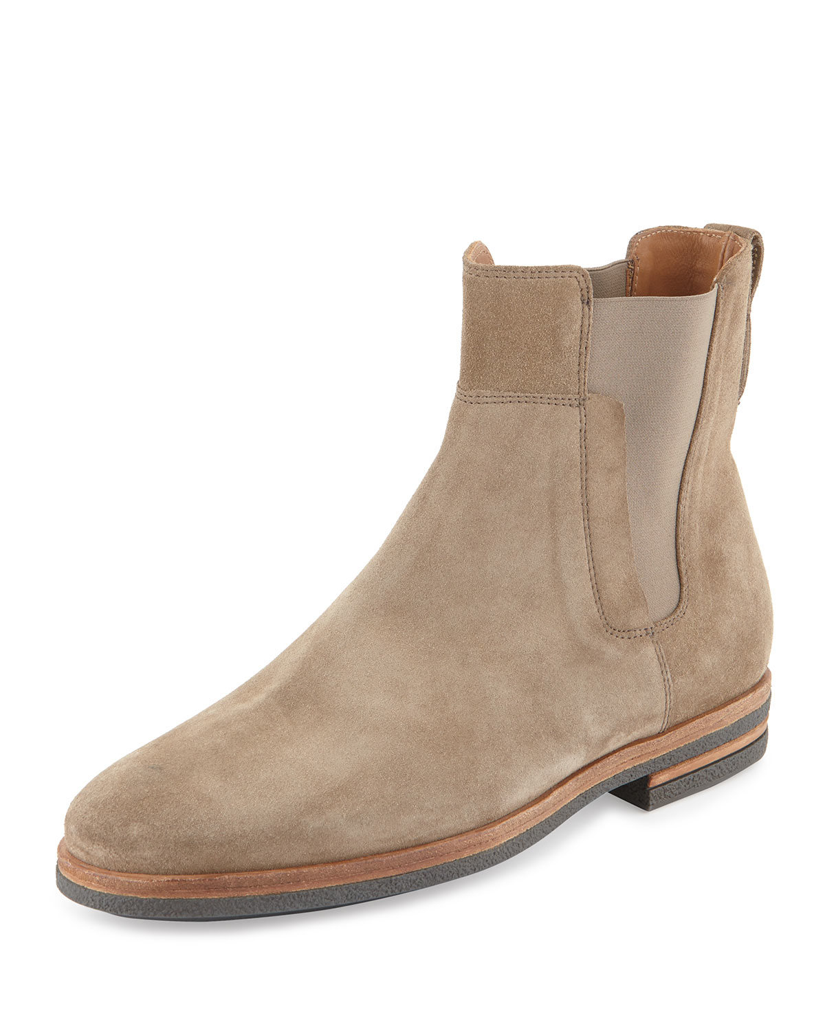 Vince Mens Suede Chelsea Boot in Natural for Men | Lyst